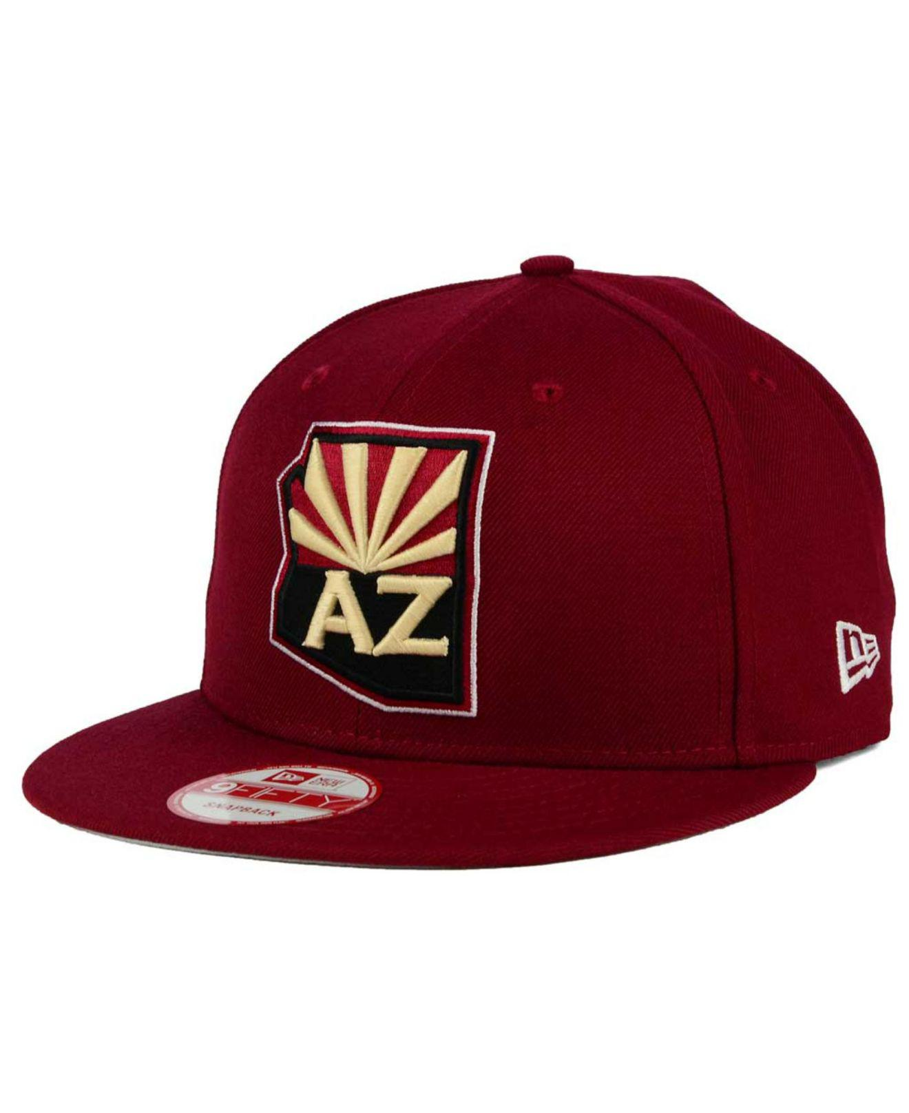 new product 45efa 480ac ... hot lyst ktz arizona coyotes all day 9fifty snapback cap in red for men  e2f5a 2ae4c