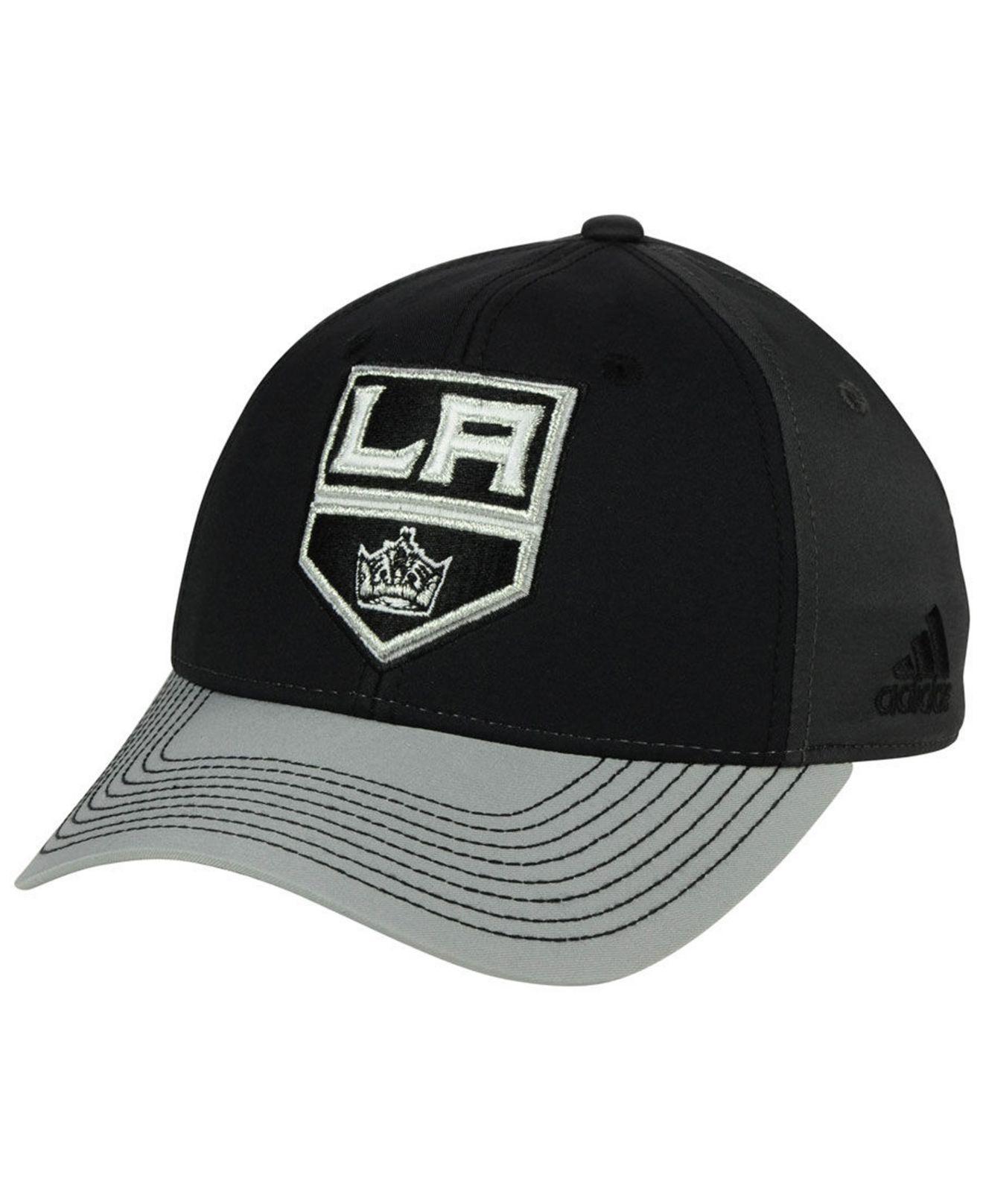 size 40 3dab2 d2694 adidas. Men s Black Los Angeles Kings 2tone Stitch Flex Cap