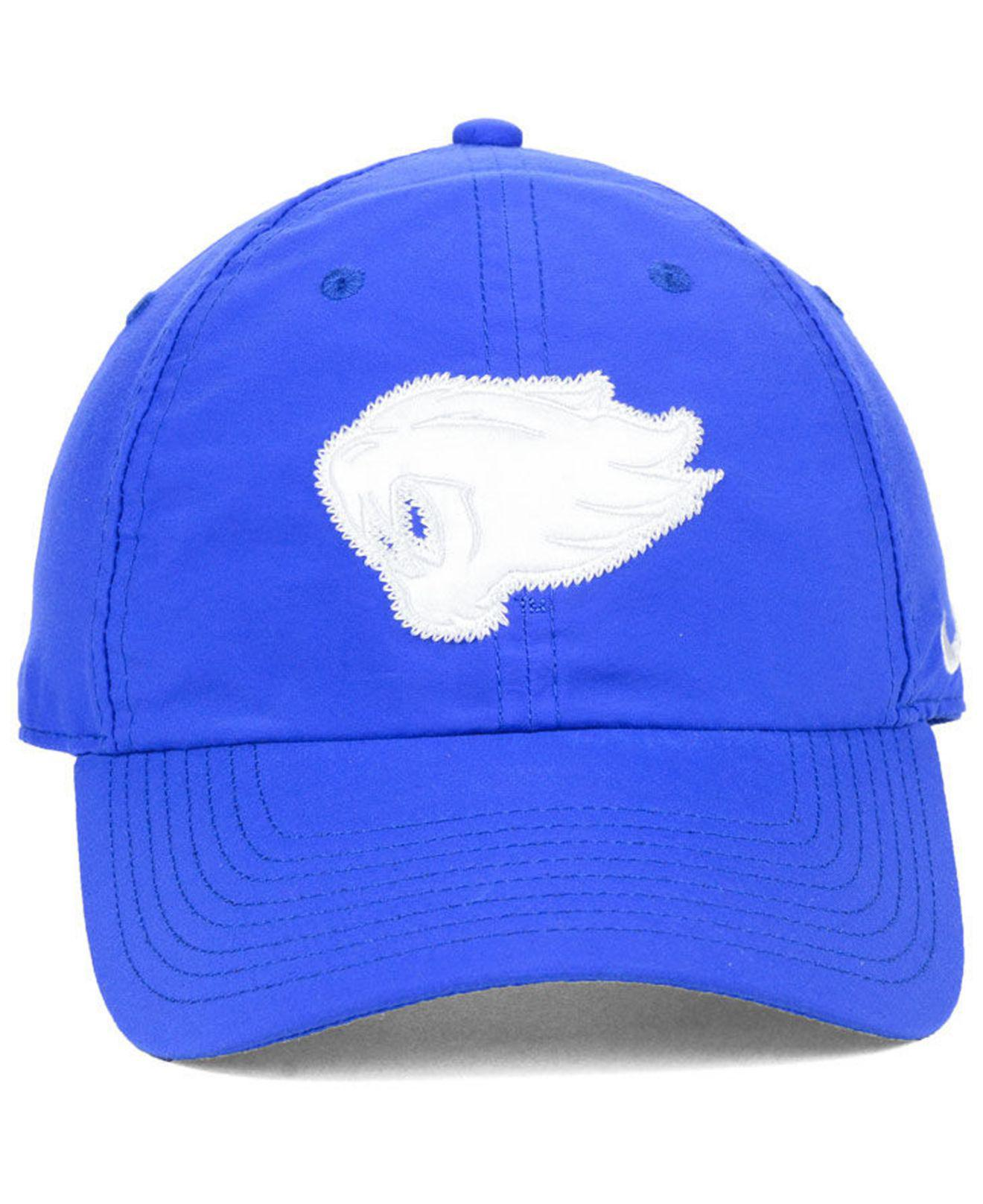 promo code 08ebe f36a7 Lyst - Nike Kentucky Wildcats Lon Adjustable Strapback Cap in Blue for Men