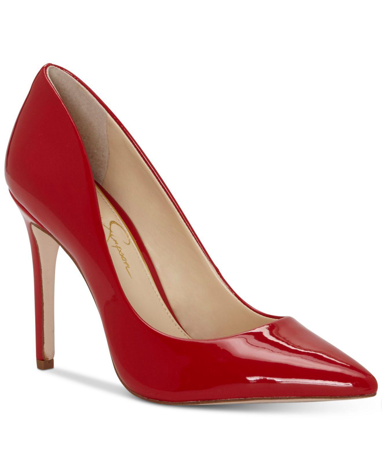 8f81d5de87e7 Jessica Simpson. Women s Red Cassani Pumps ...