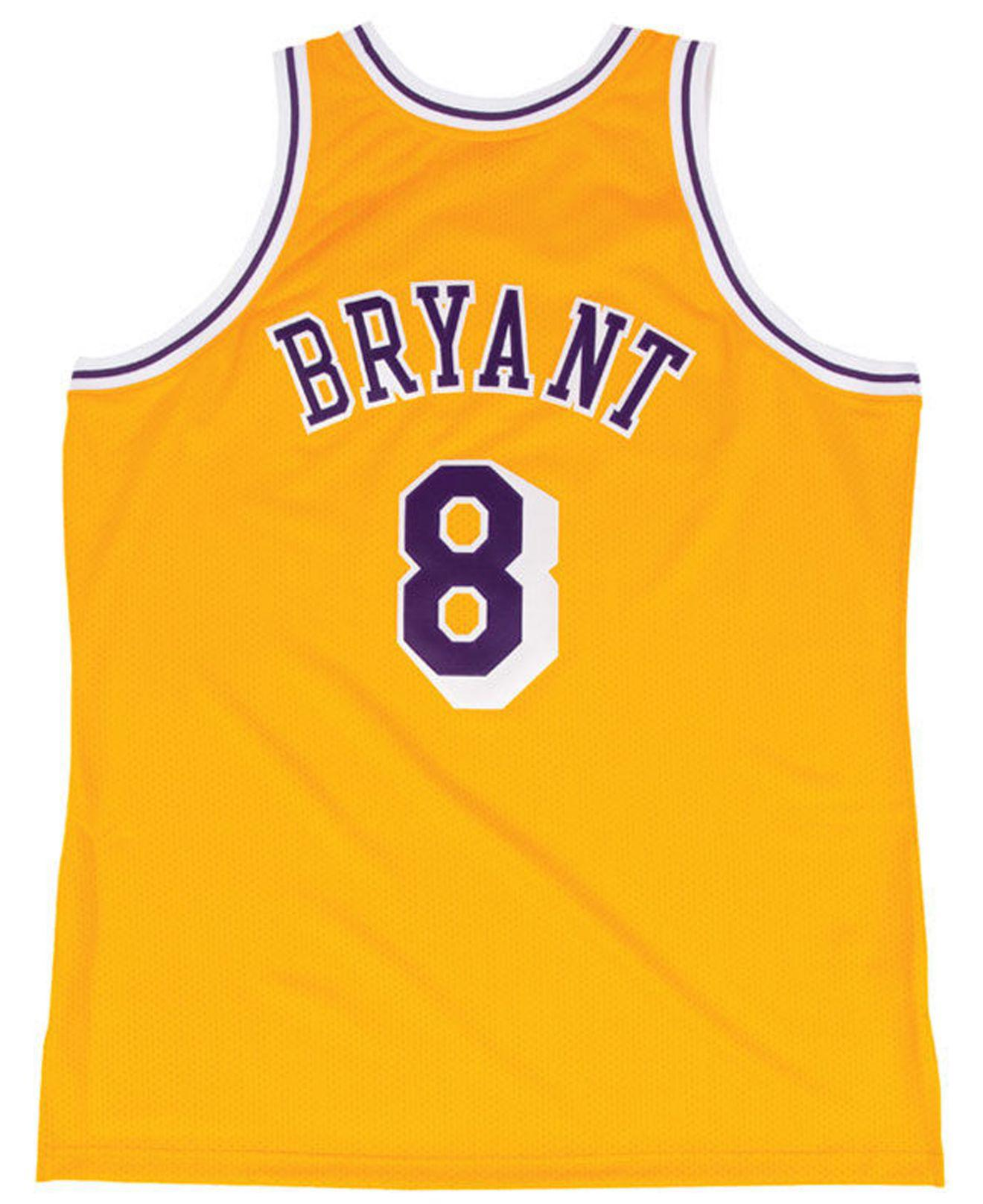 cccbe1920d8 ... shop lyst mitchell ness kobe bryant los angeles lakers authentic jersey  in metallic for men 6b588 ...