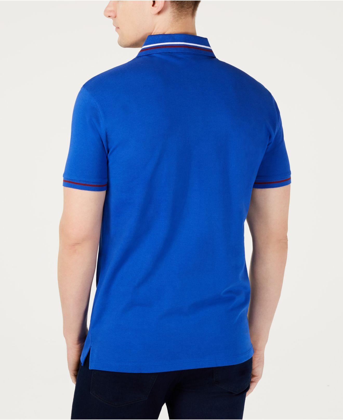 0832695eb2c Lyst - BOSS Daruso-u1 Regular-fit Embroidered Logo Polo in Blue for Men