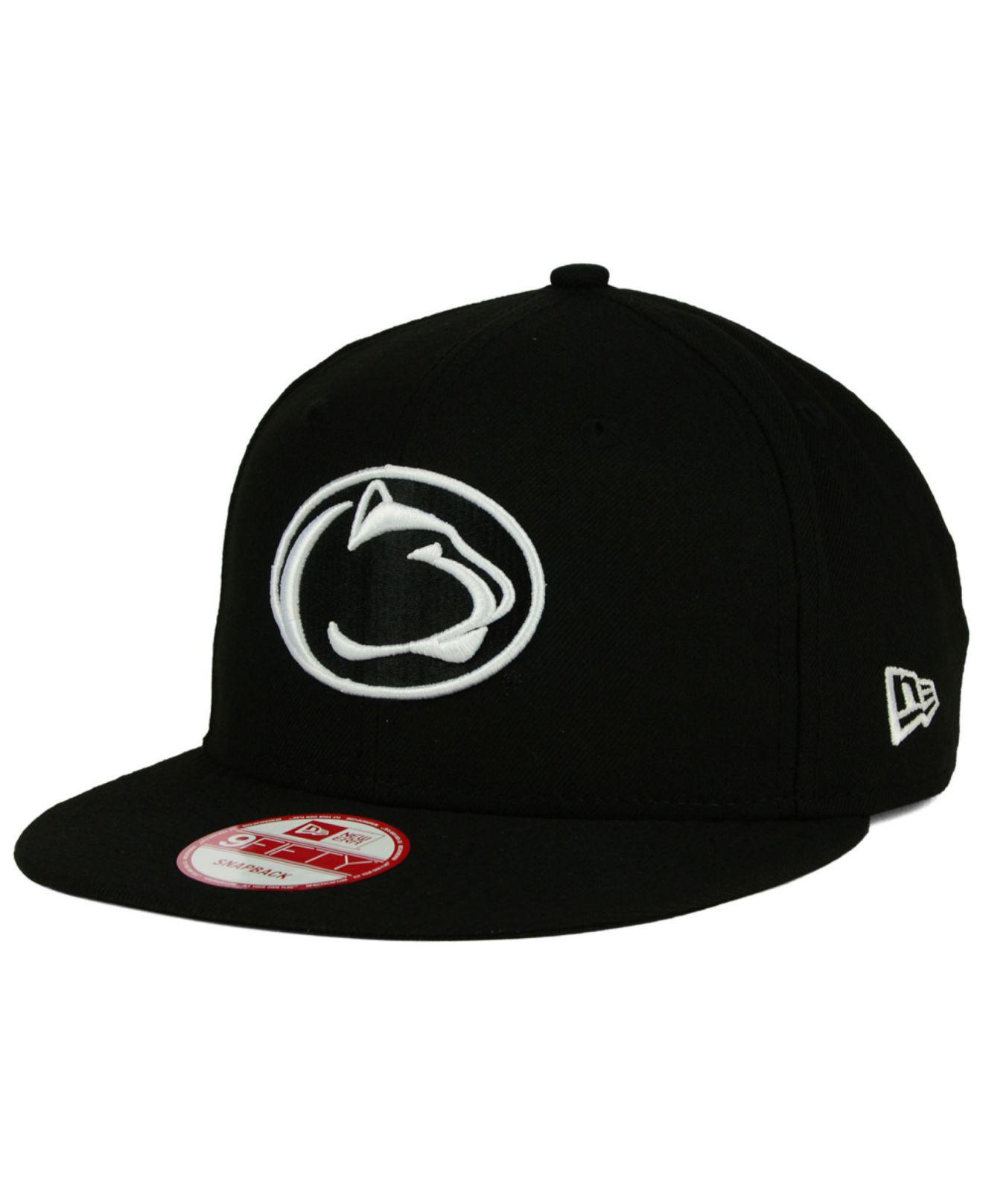 065af47c80bf43 KTZ - Penn State Nittany Lions Ncaa Black White Fashion 9fifty Snapback Cap  for Men -. View fullscreen