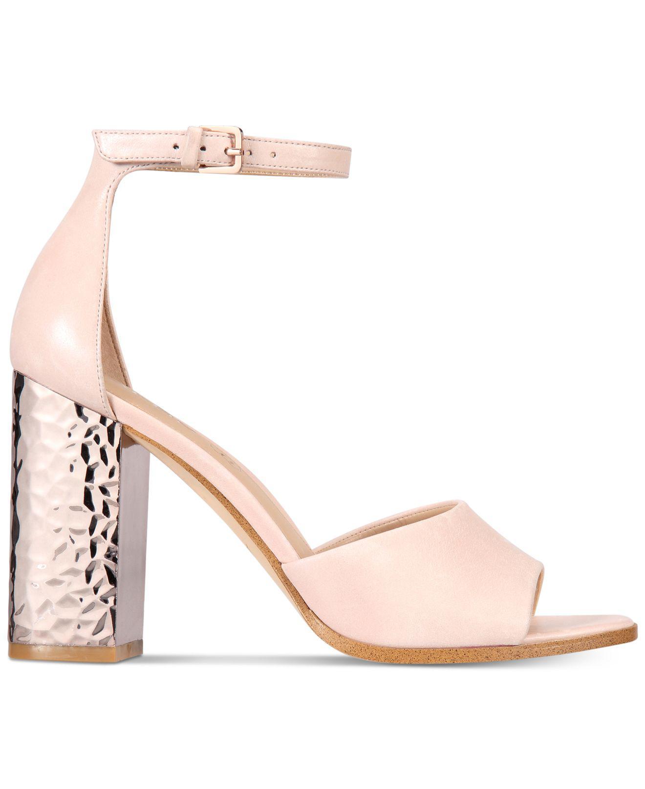 94a63ac76d9 Lyst - ALDO Women s Nilia Two-piece Block-heel Sandals in Pink