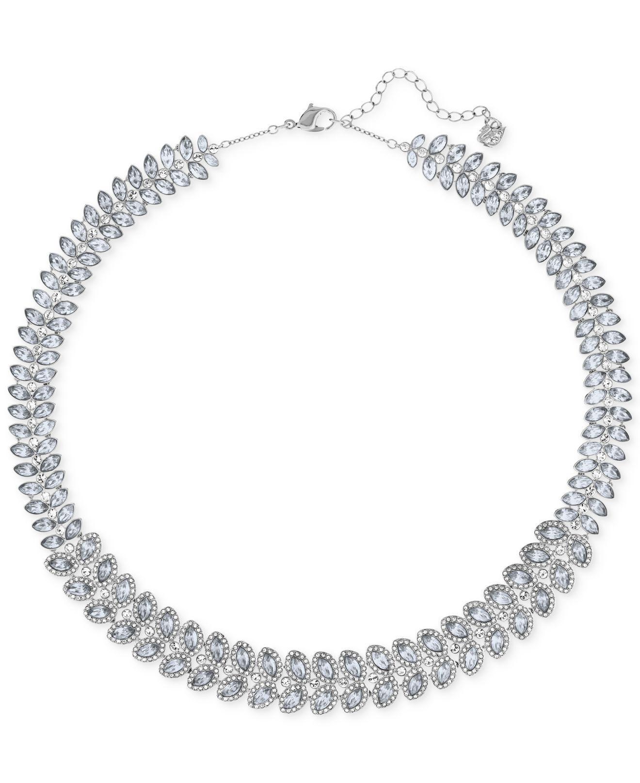 c27eb38896cc Swarovski. Women s Metallic Baron Rhodium-tone All-around Crystal Necklace