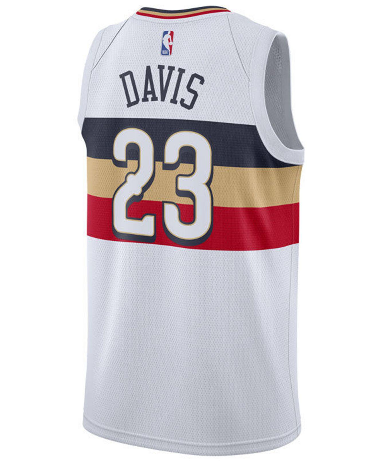 c10b05e60402 Nike Anthony Davis (nba) Earned City Edition Swingman (new Orleans  Pelicans) Nba Connected Jersey in White for Men - Lyst