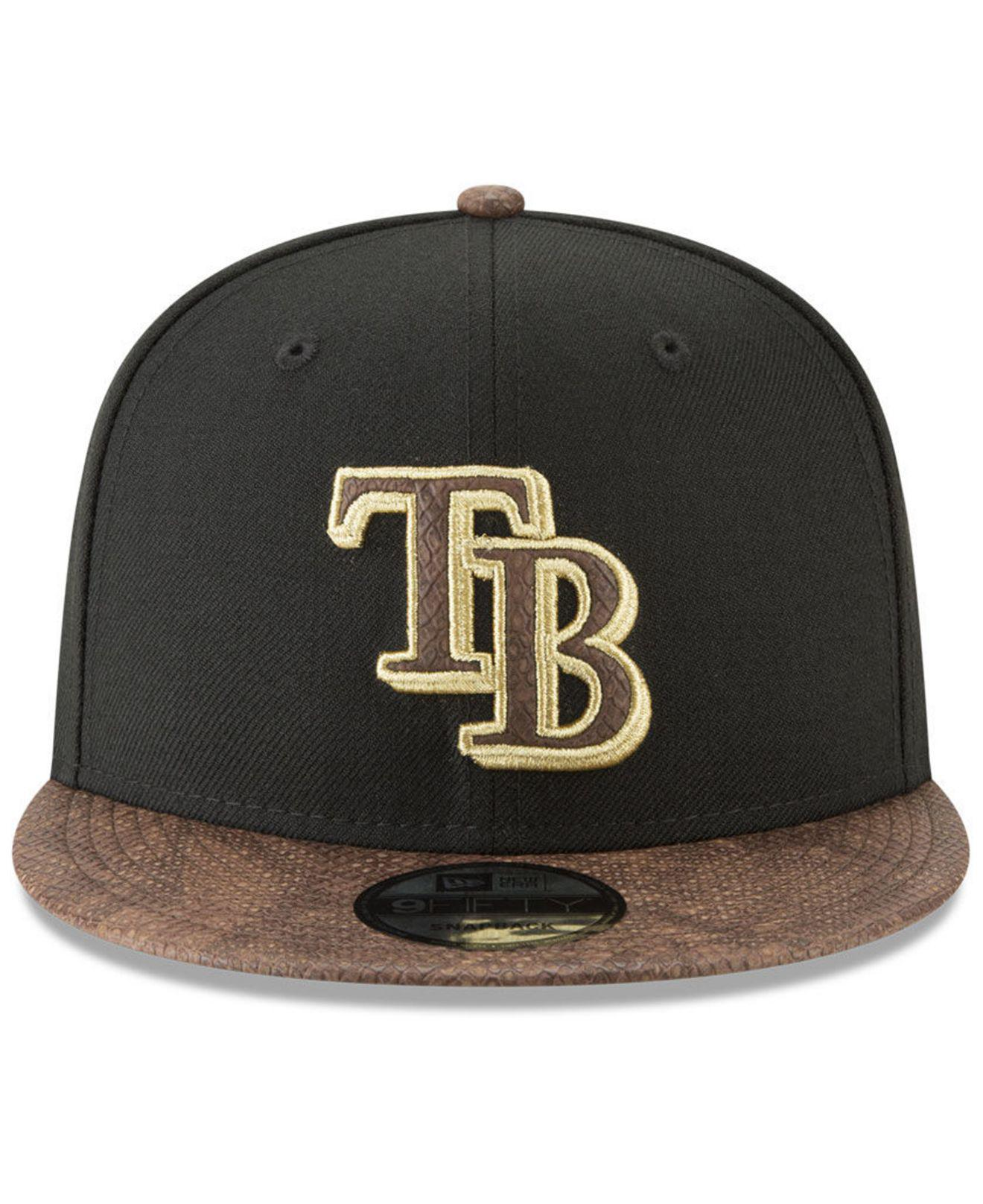 timeless design 8b402 f134f Lyst - KTZ Tampa Bay Rays Gold Snake 9fifty Snapback Cap for Men