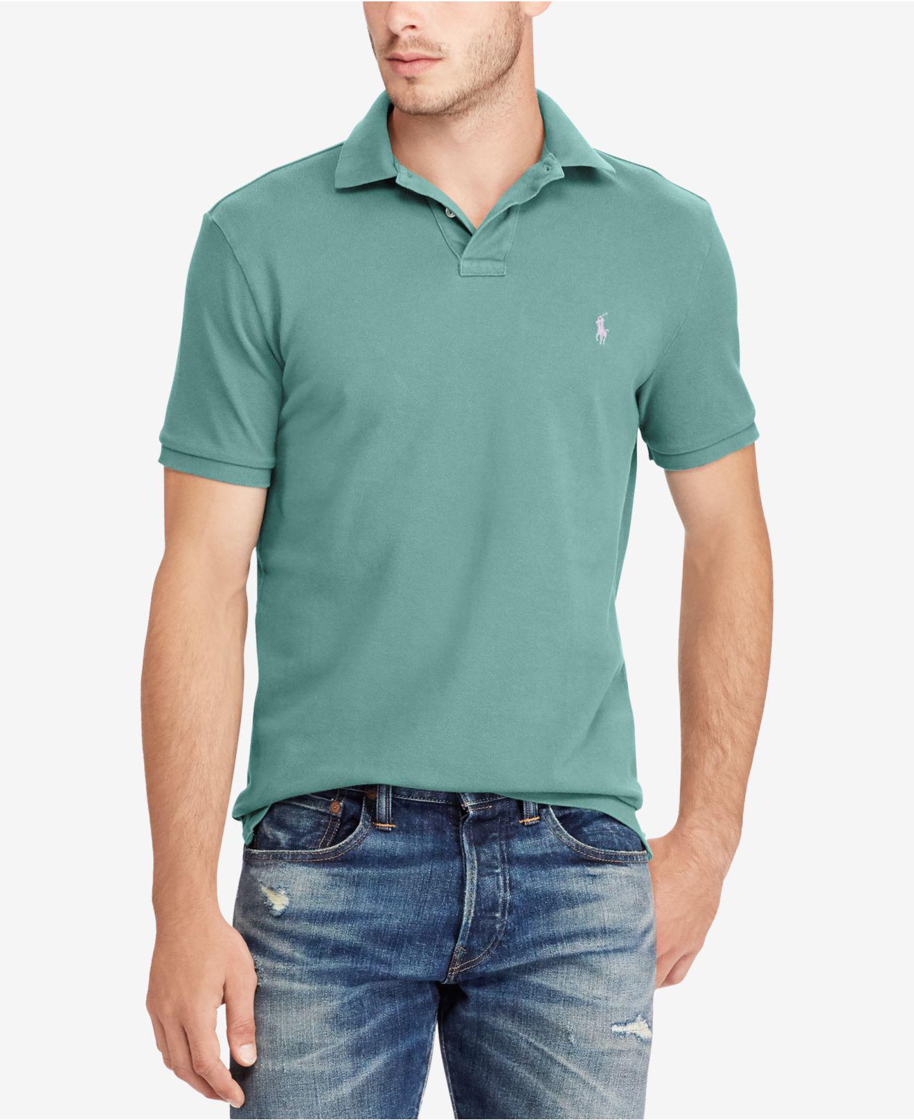 47b2046dcd80 ... shirt polos men macys 205dd 93453  real polo ralph lauren custom slim  fit classic mesh polo 5439c 73500