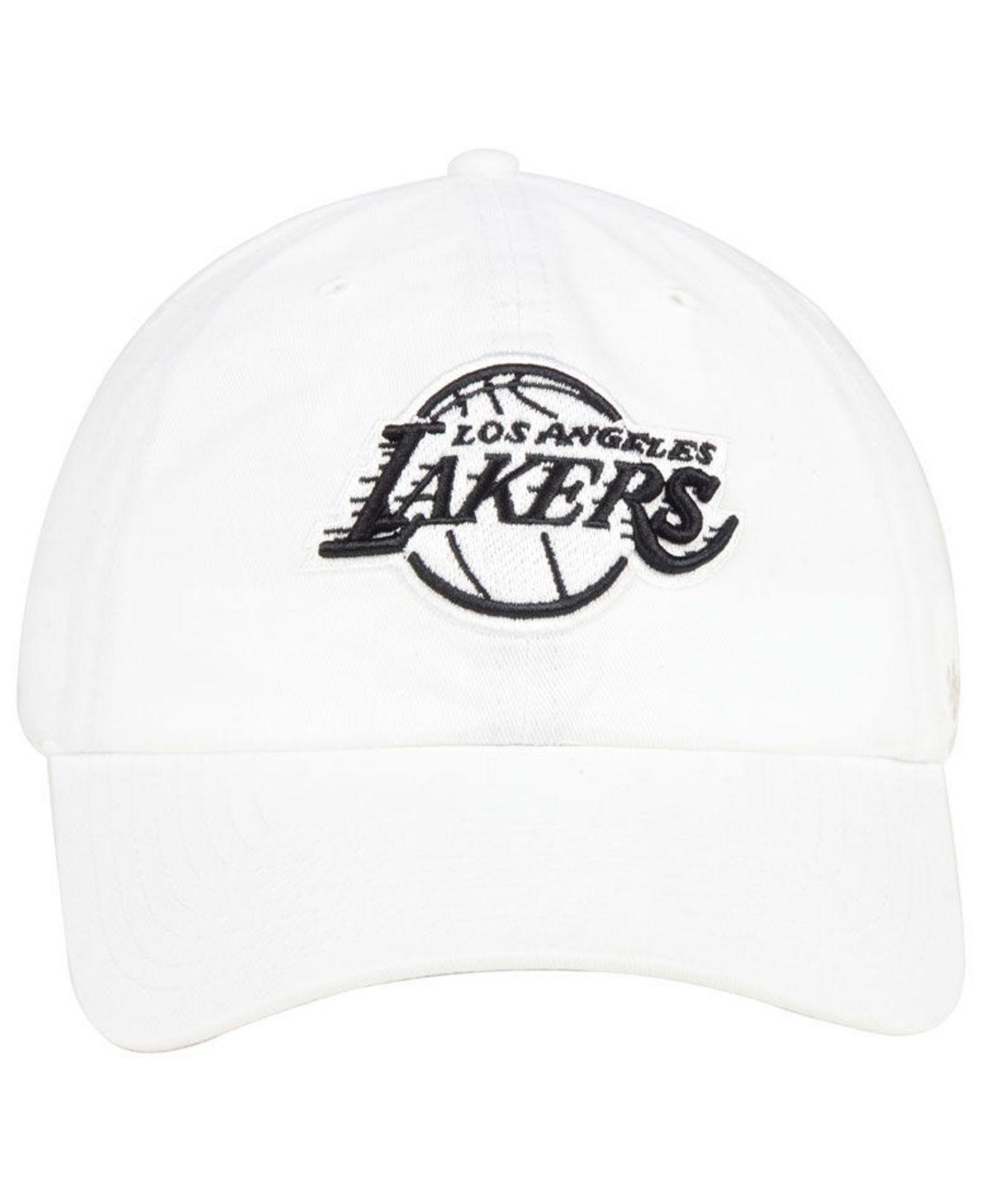 ... cheap lyst 47 brand los angeles lakers clean up cap in white for men  87be3 84217 eecc7f0d250e