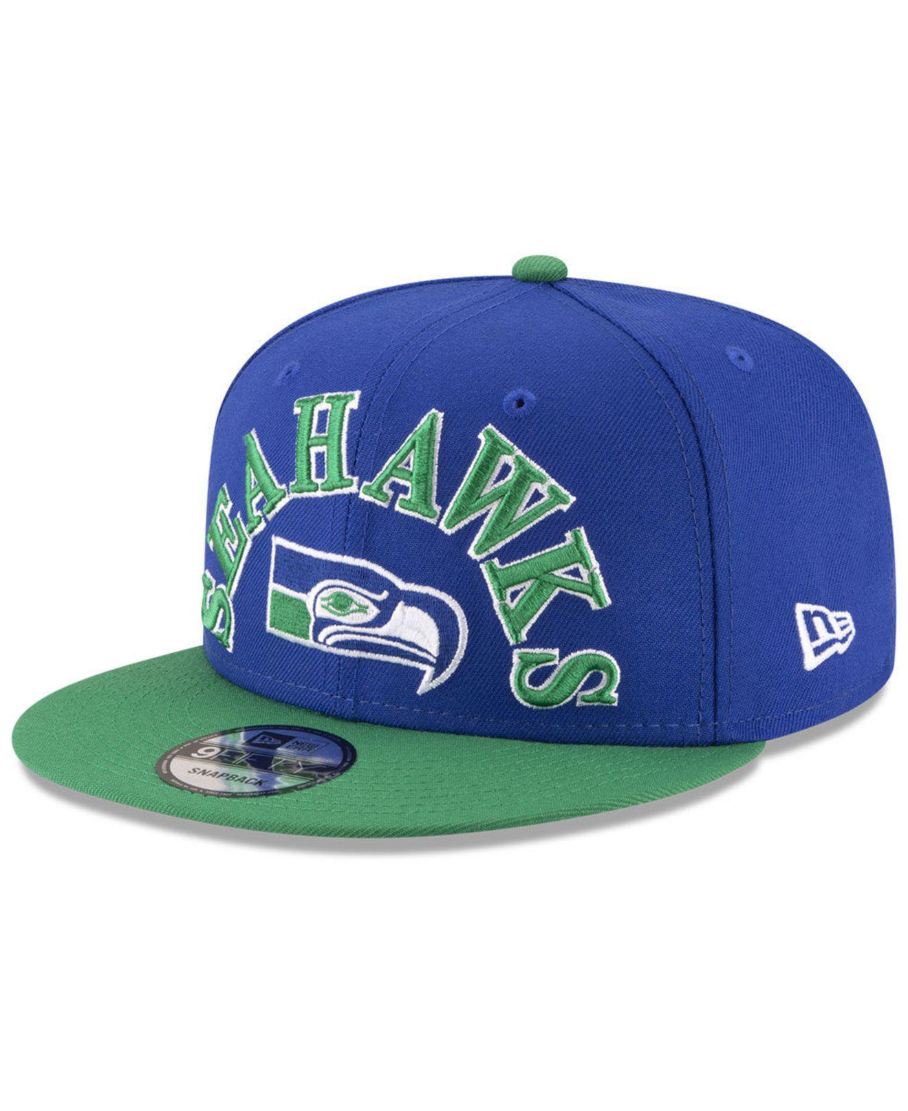 0a784cae265 Lyst - KTZ Seattle Seahawks Retro Logo 9fifty Snapback Cap in Green ...