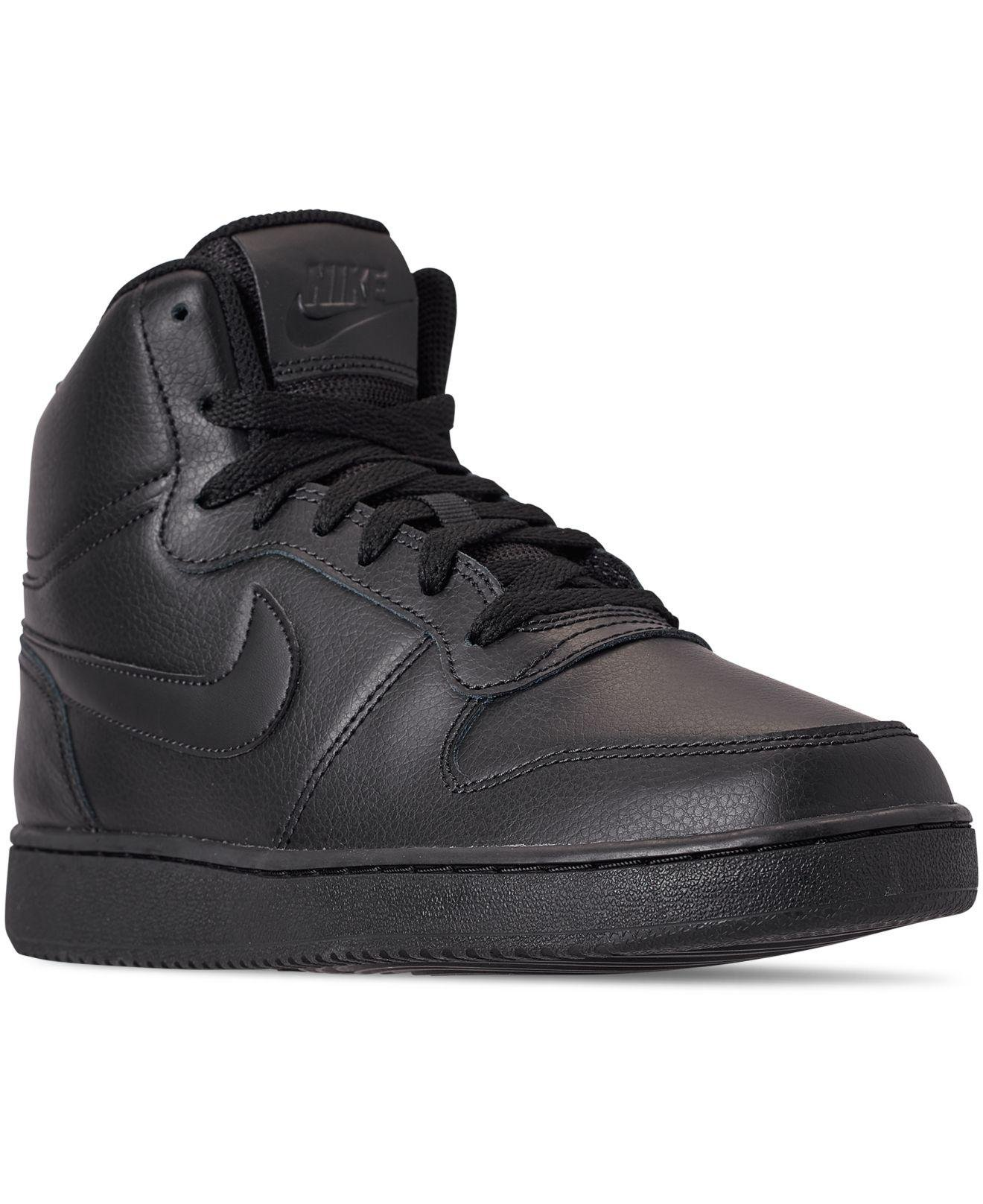 4b66c689f2 Lyst - Nike Ebernon Mid Casual Sneakers From Finish Line in Black ...