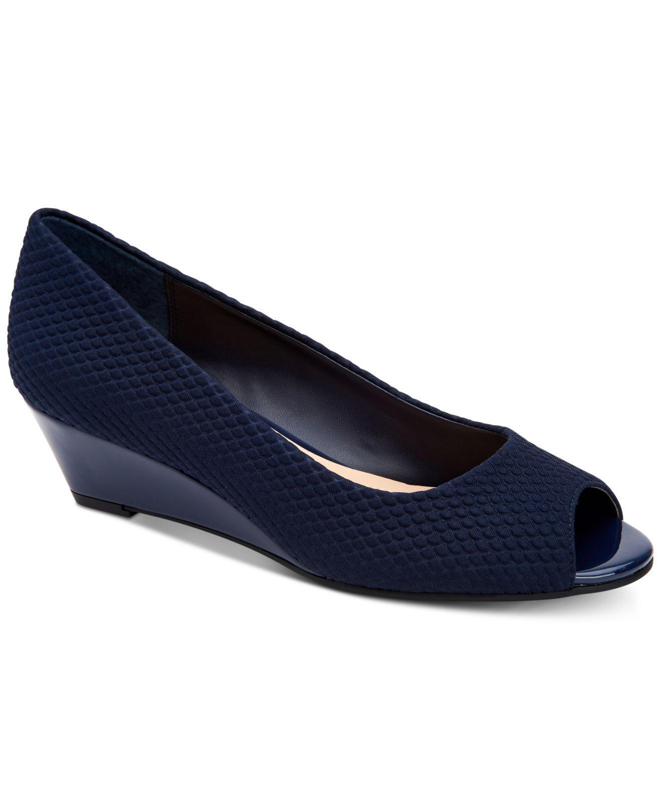 f9ffdb9591e Lyst - Alfani Women s Step  n Flex Cammi Wedges in Blue