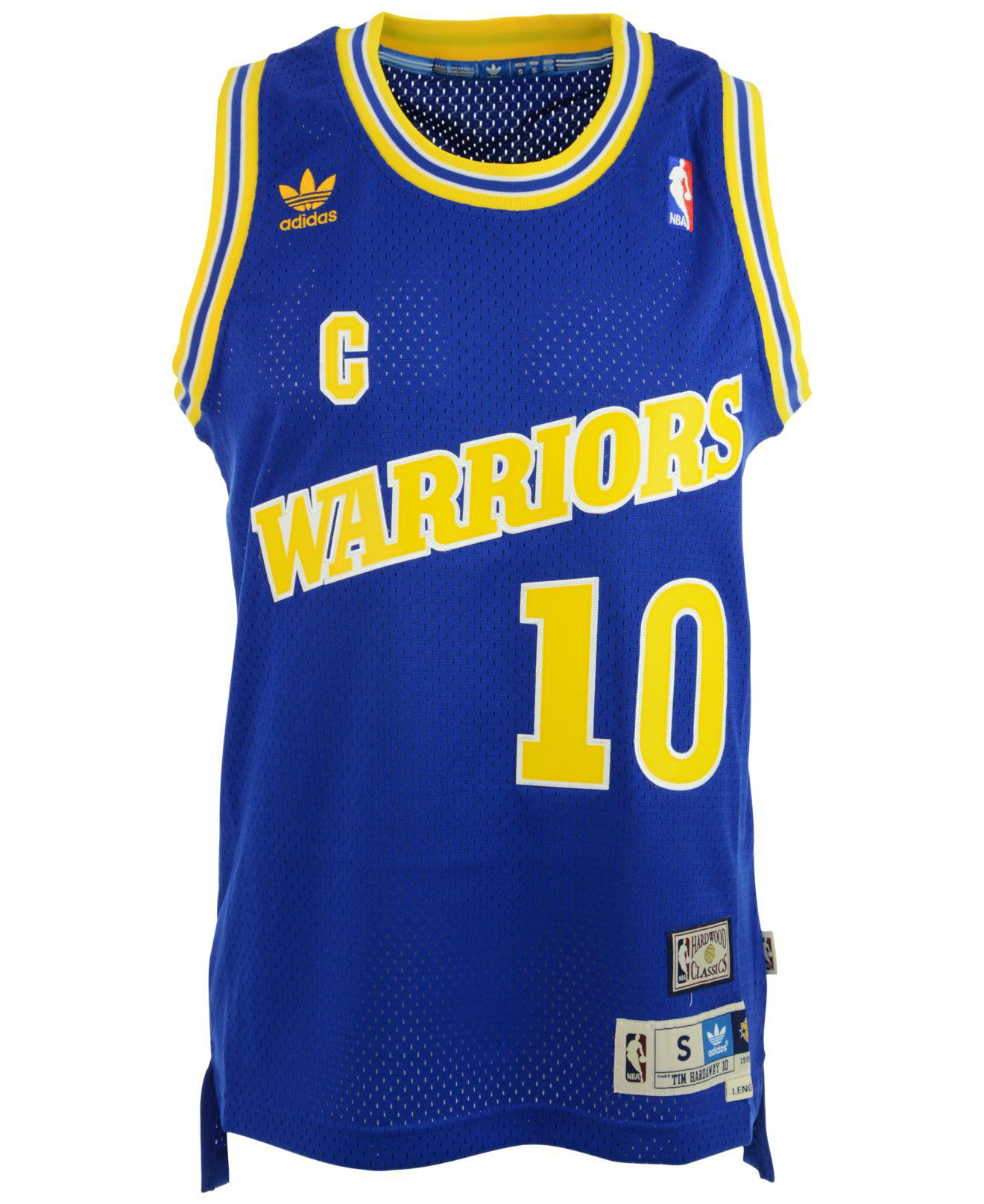 0d1bb6cc2 adidas Tim Hardaway Golden State Warriors Swingman Jersey in Blue ...