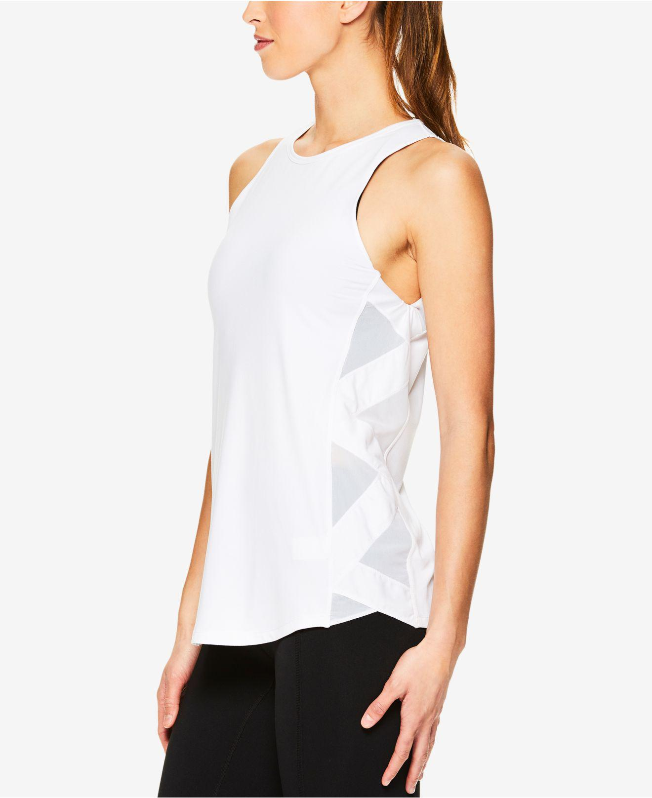 2dfca77fb0 Lyst - Gaiam Bailey Mesh-trimmed Tank Top in White