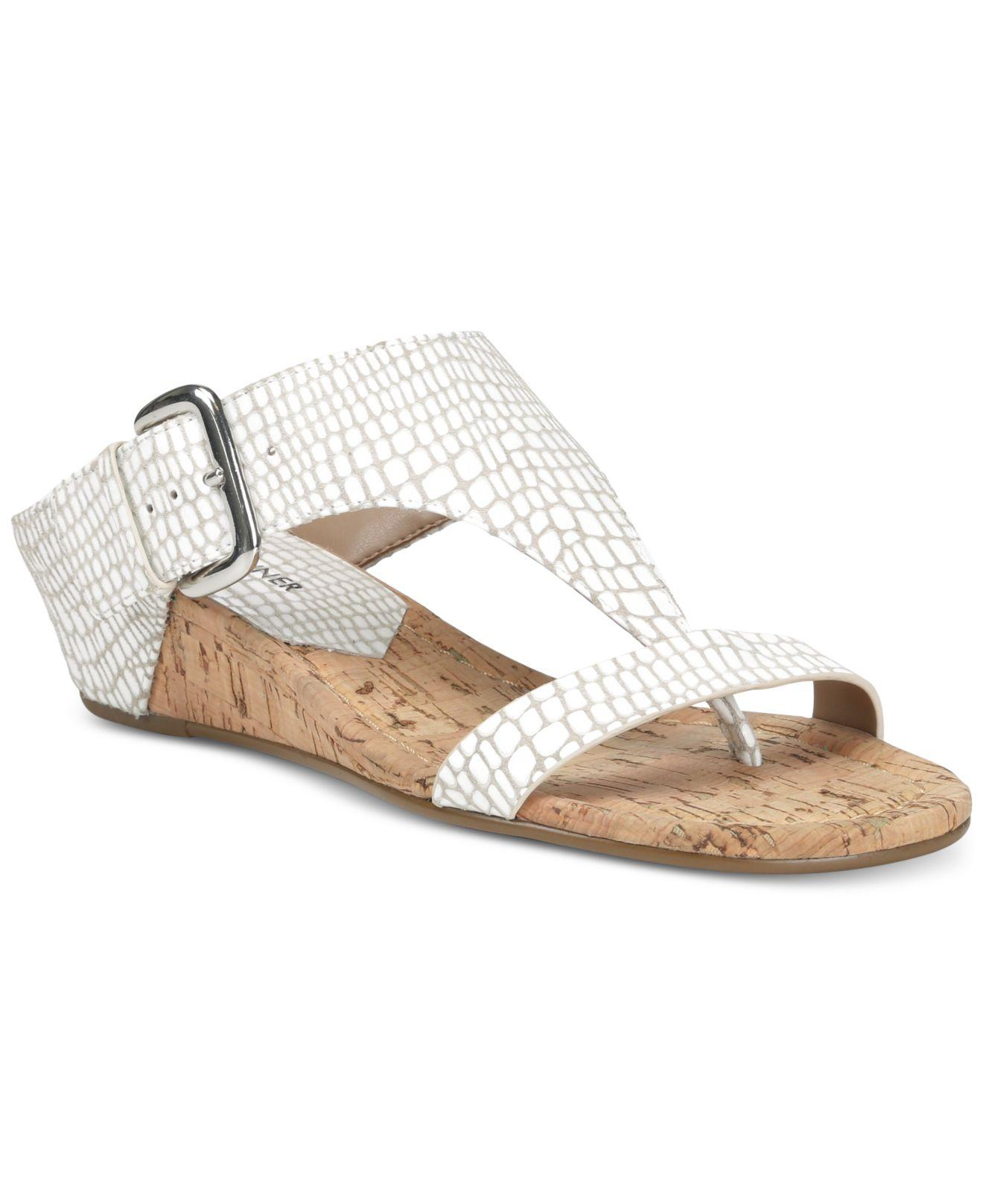 a87f26f780c Lyst - Donald J Pliner Doli Wedge Sandals in White
