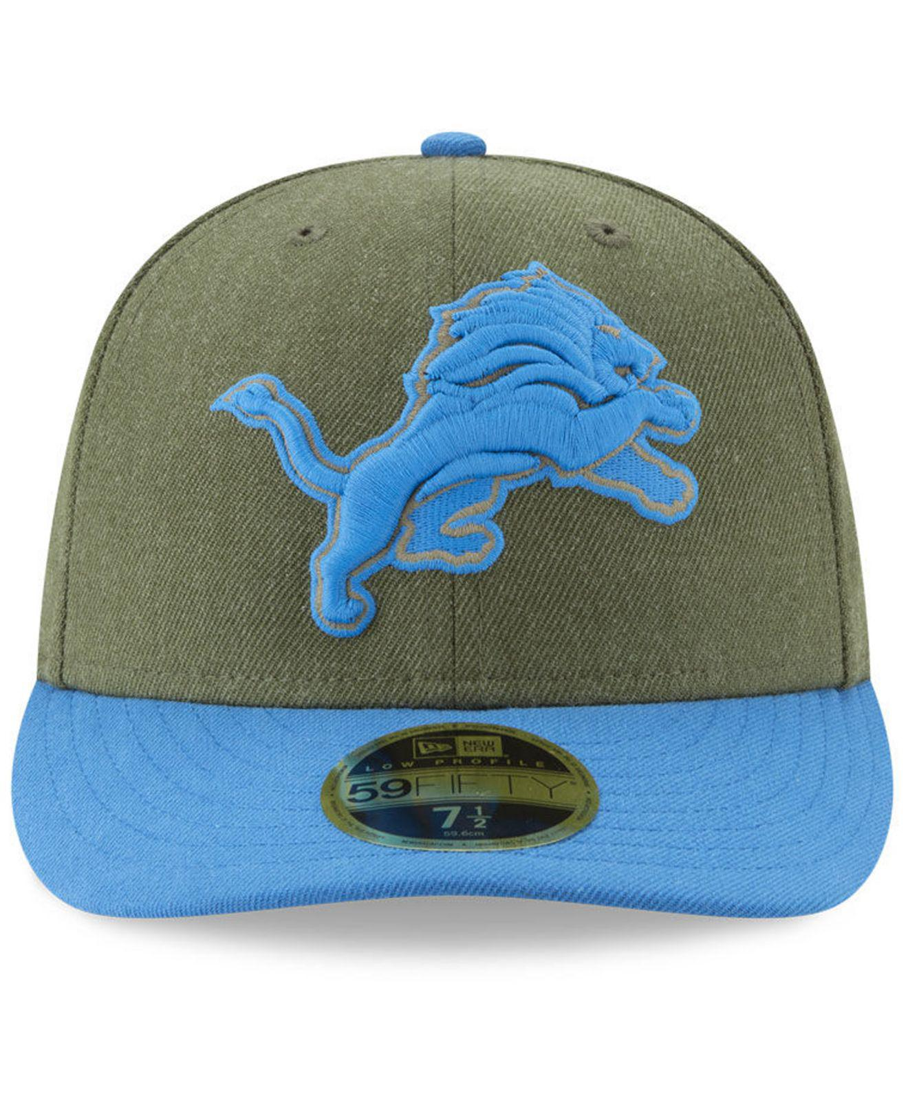 Lyst - KTZ Detroit Lions Salute To Service Low Profile 59fifty Fitted Cap  2018 in Green for Men 43b44de88