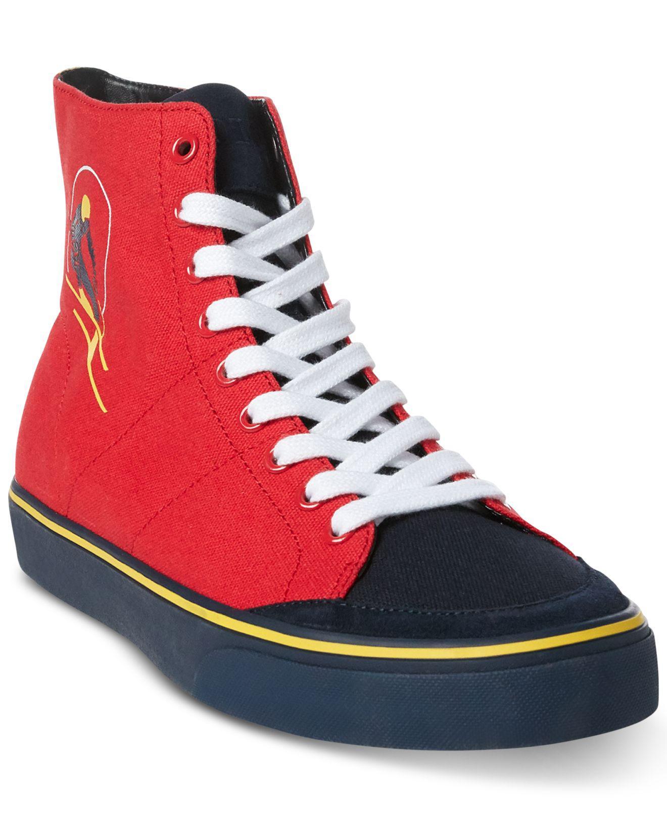 ee0696ddc99842 Lyst - Polo Ralph Lauren Solomon Ski-patch Sneakers