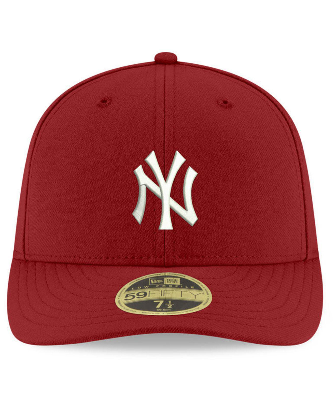 new concept 99aca 1c81f KTZ New York Yankees Low Profile C-dub 59fifty Fitted Cap in Red for ...
