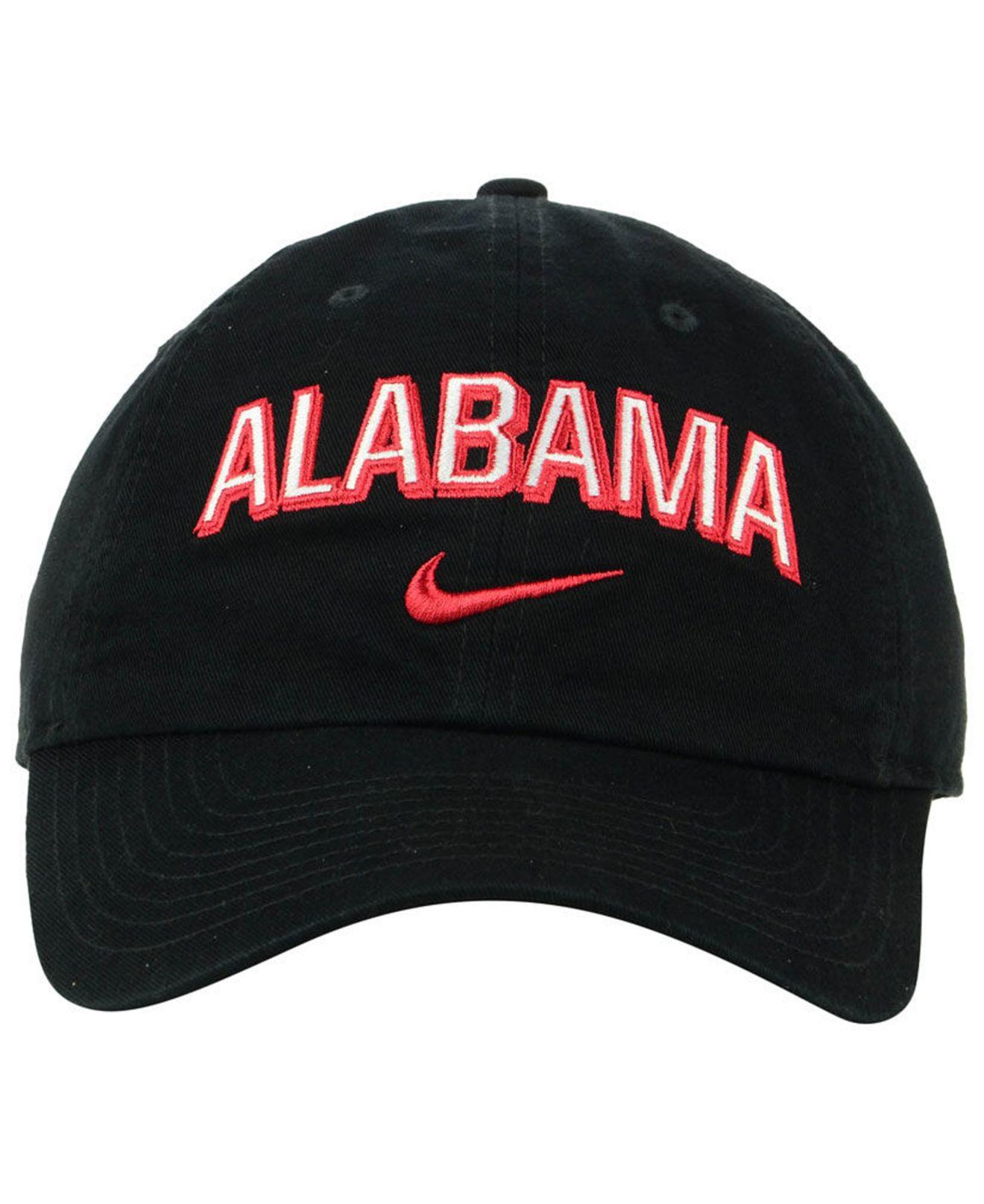 new products 5e334 89f77 Lyst - Nike Alabama Crimson Tide H86 Wordmark Swoosh Cap in Black for Men