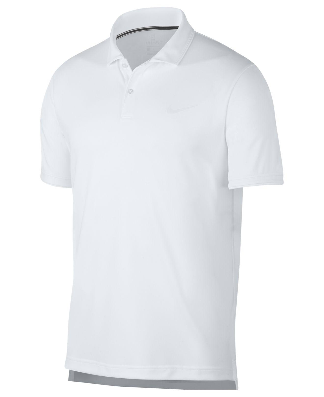 a44783bd28ef Lyst - Nike Court Dri-fit Team Tennis Polo in White for Men