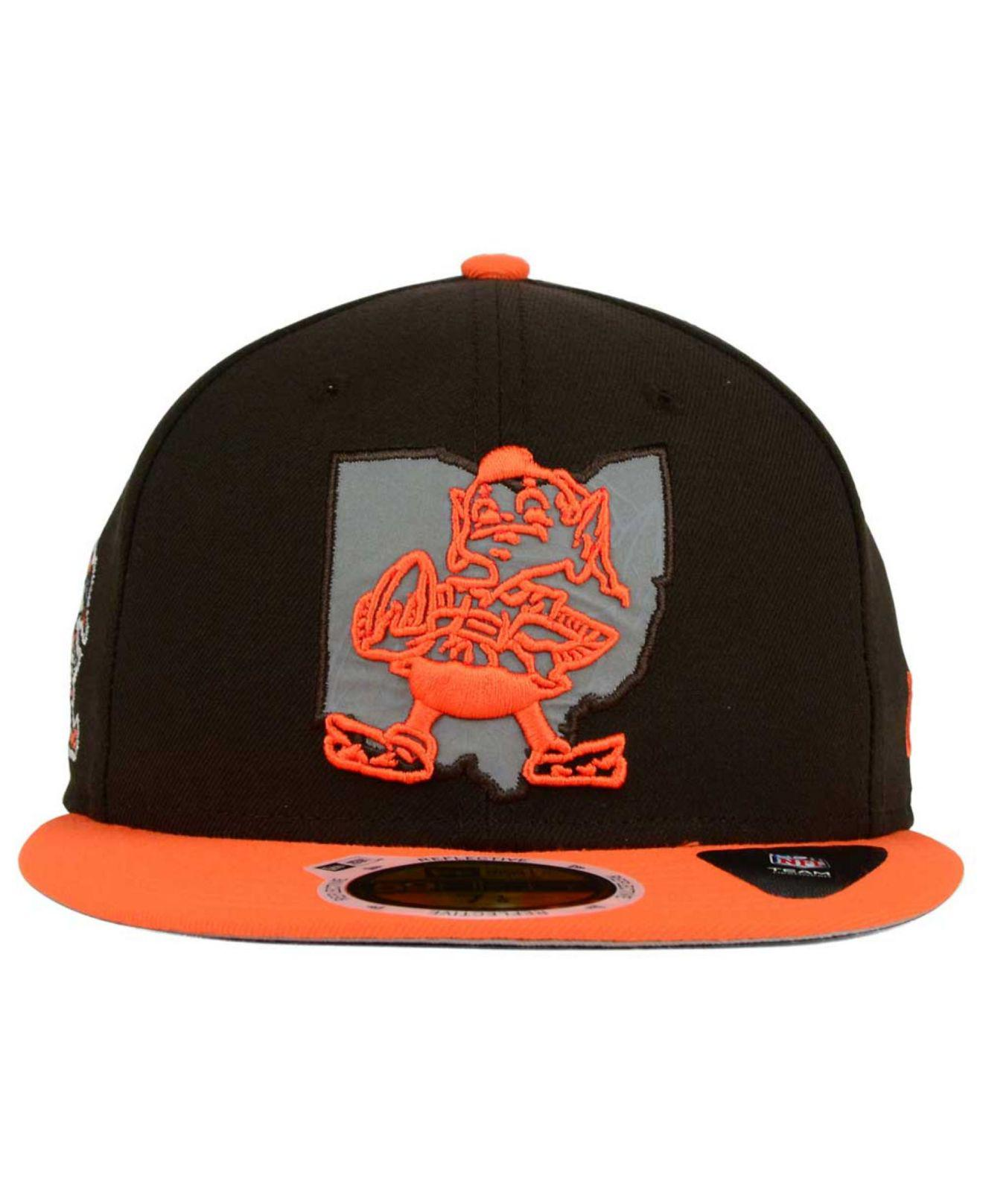 san francisco f1230 27d02 ... order lyst ktz cleveland browns state flective redux 59fifty cap in  orange for men 117a0 72620