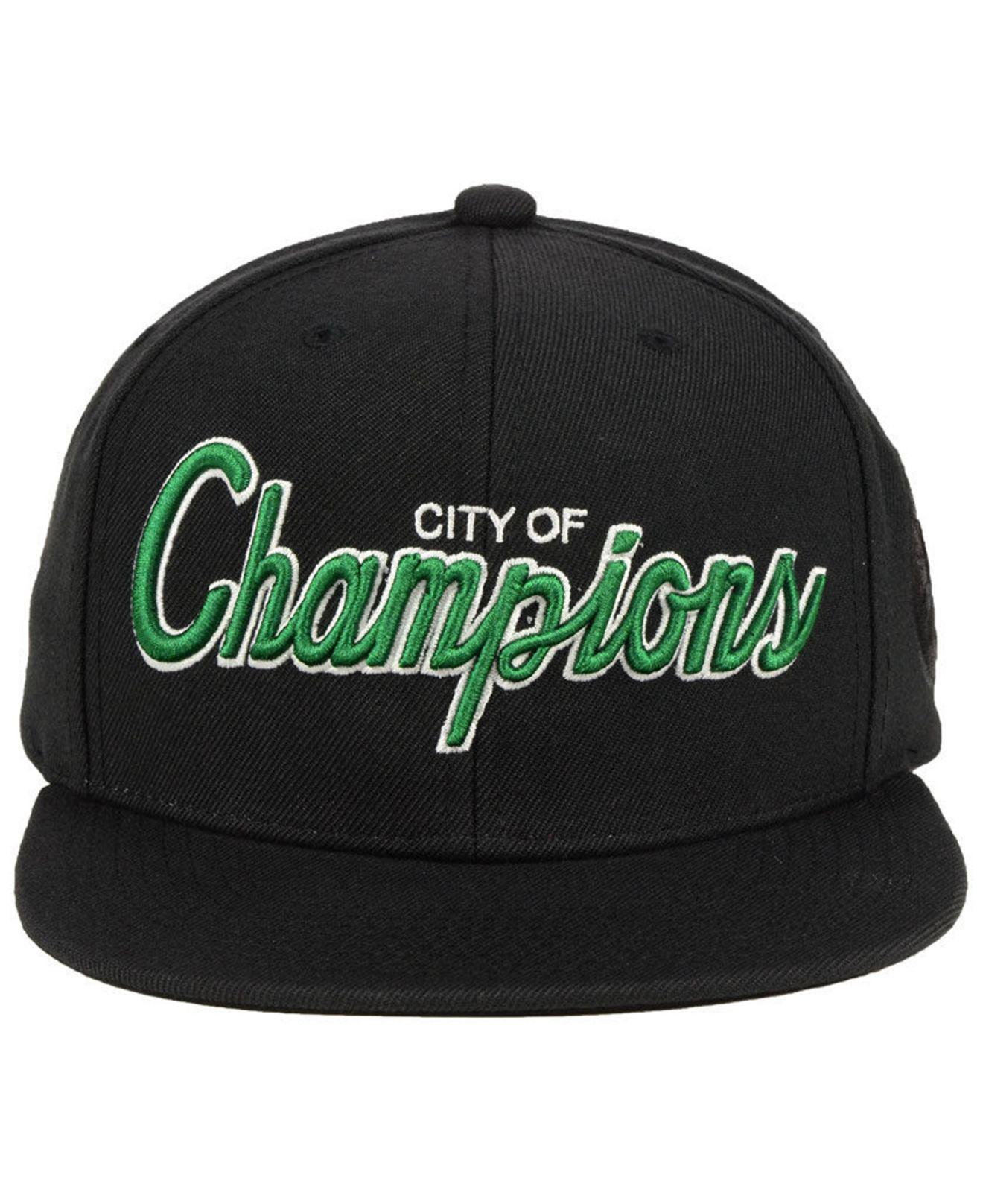 new concept 20943 f39c8 clearance lyst mitchell ness boston celtics town snapback cap in black for  men 3ad88 73b2b