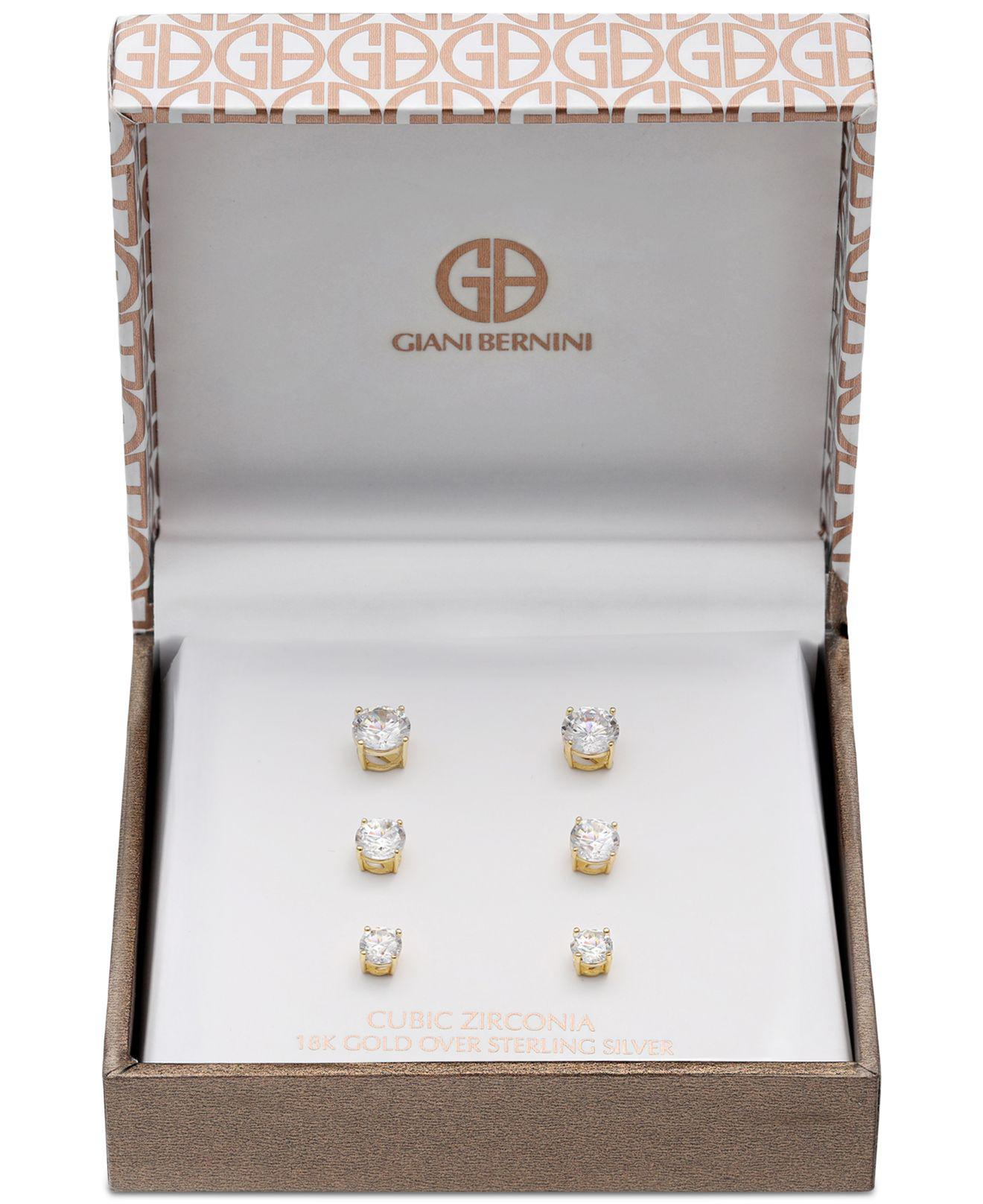 d0d24b694 Set Cubic Zirconia Stud Earrings In Sterling Silver. View fullscreen
