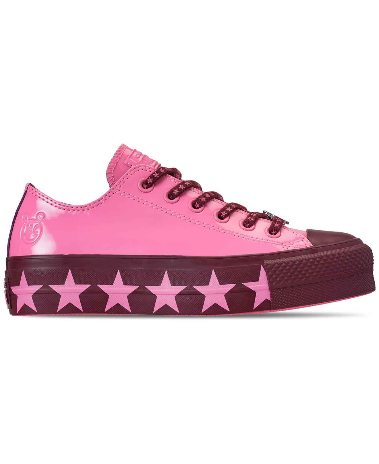 a514f6aa499 Lyst - Converse Chuck Taylor All Star X Miley Cyrus Ox Lift Casual Sneakers  From Finish Line in Pink - Save 28%