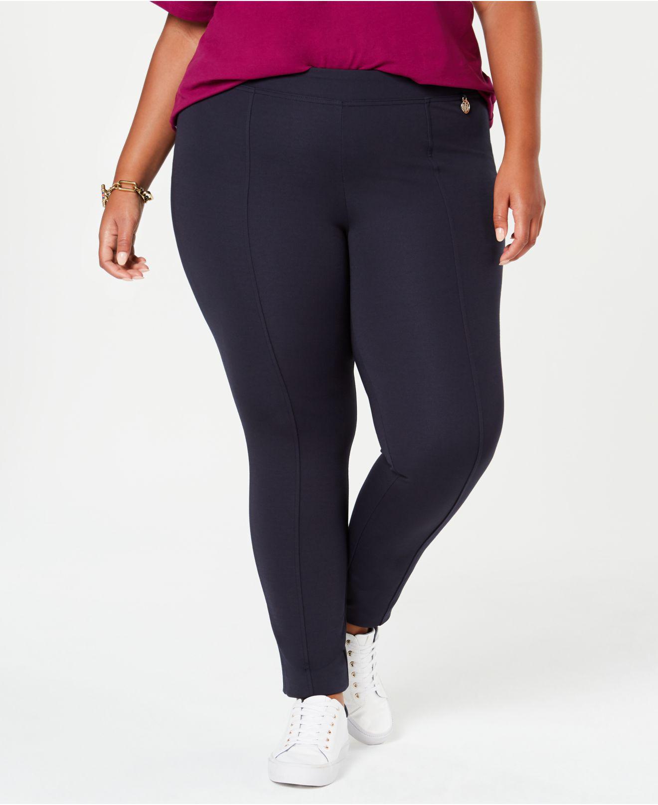 feacc0c1a1c Tommy Hilfiger. Women s Blue Plus Size Ponte Skinny Pants ...