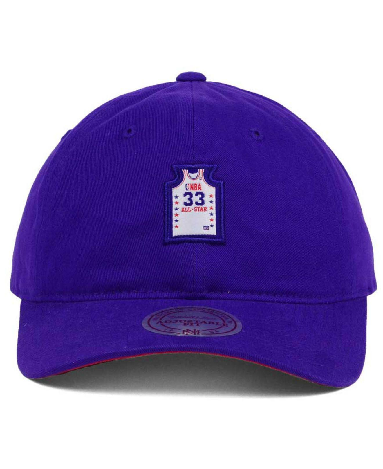 8c83d5111499e ... where to buy lyst mitchell ness all star deez jersey dad hats in purple  for men