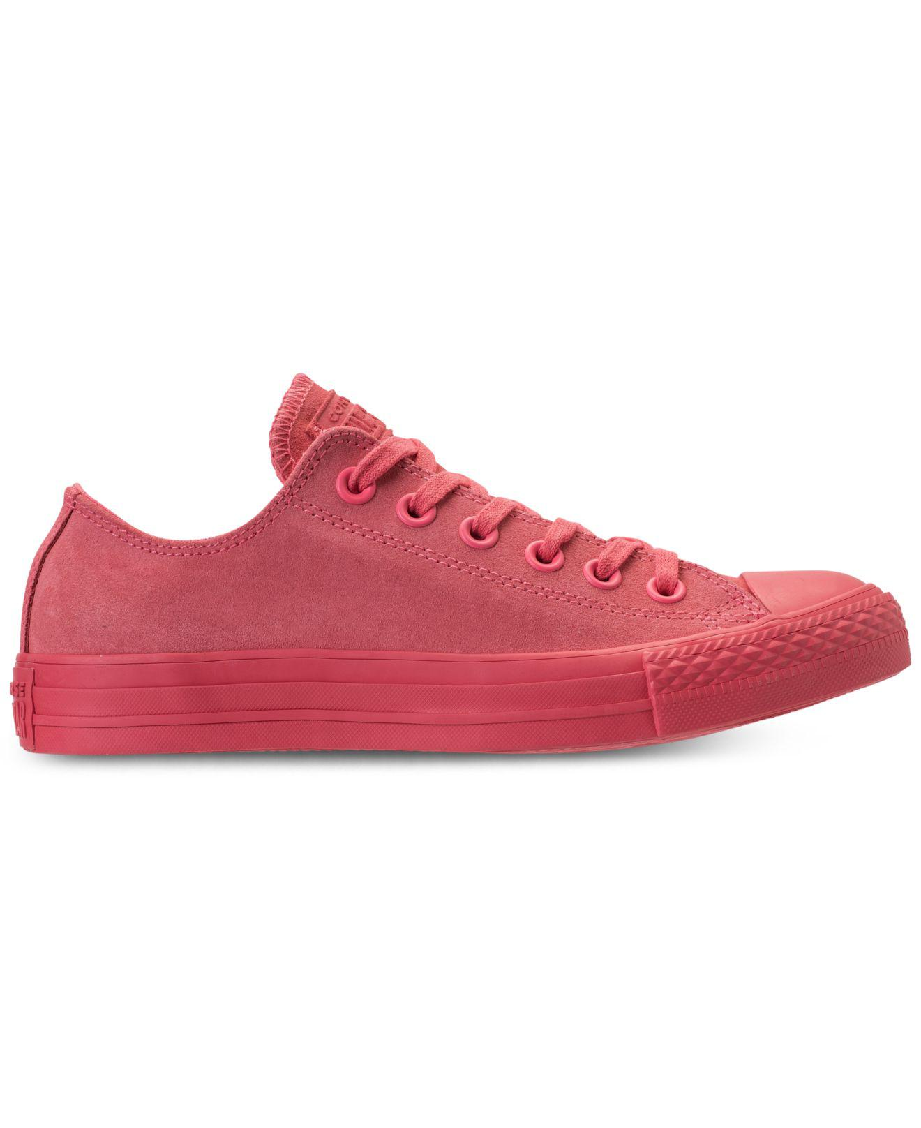 Lyst - Converse Chuck Taylor Ox Casual Sneakers From Finish Line in Pink 346ee517b