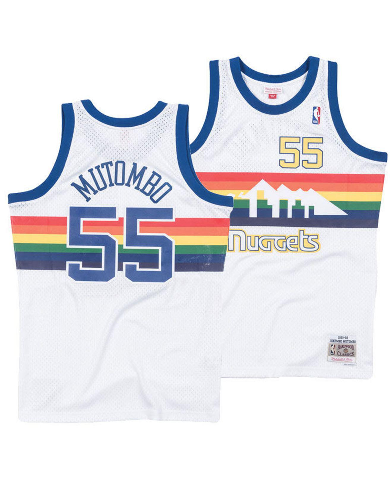 cheap for discount 8d517 431f8 Mitchell   Ness - White Dikembe Mutombo Denver Nuggets Hardwood Classic  Swingman Jersey for Men -. View fullscreen