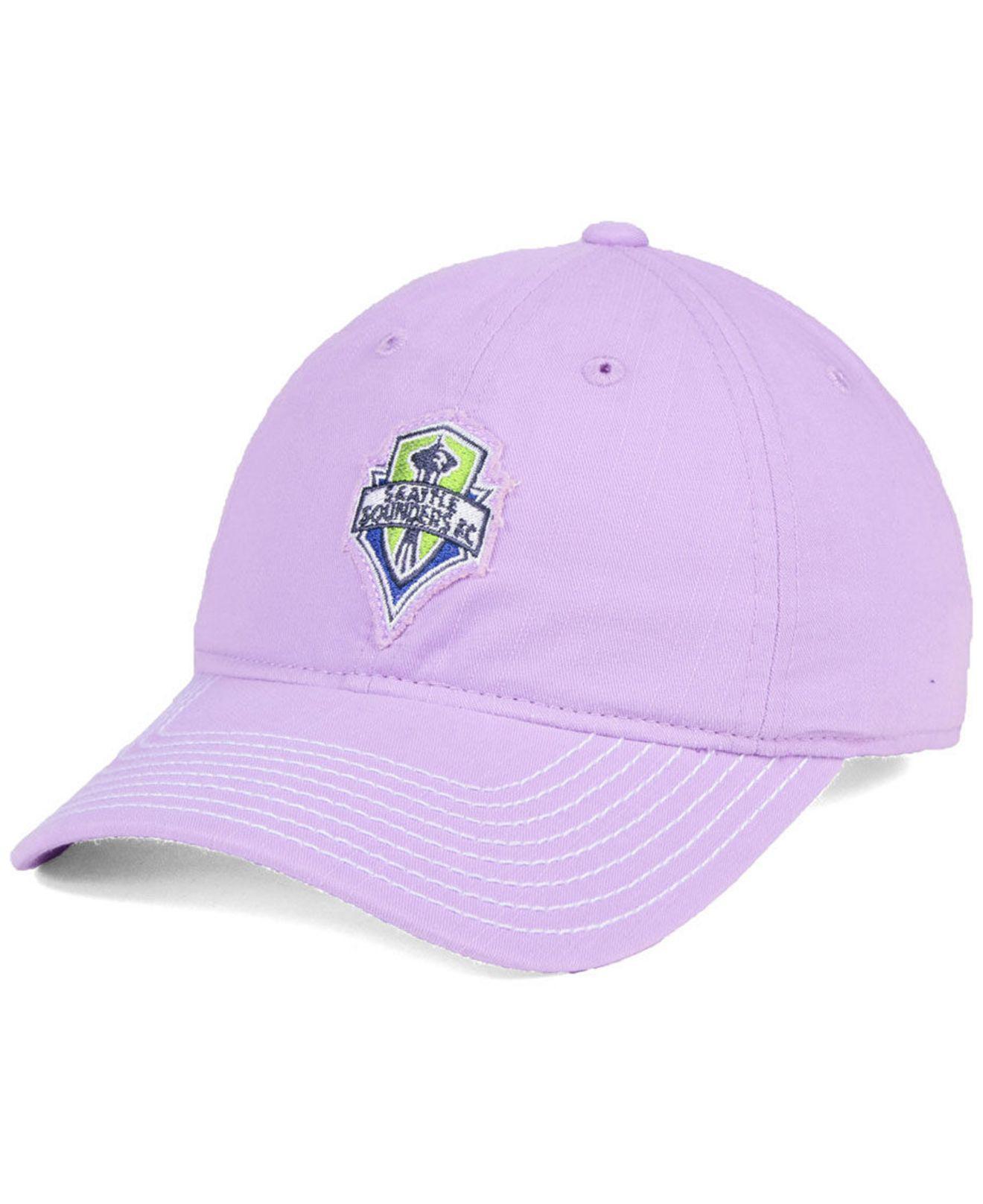 timeless design bd9a0 5d013 ... canada adidas. womens purple seattle sounders fc pink slouch cap 4e56e  de5fa