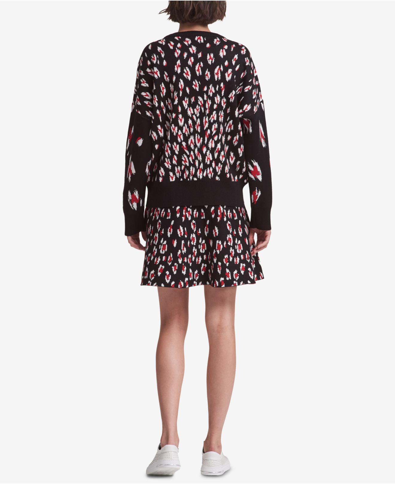 c2e14a29fc0b DKNY Leopard-print Sweater, Created For Macy's - Lyst