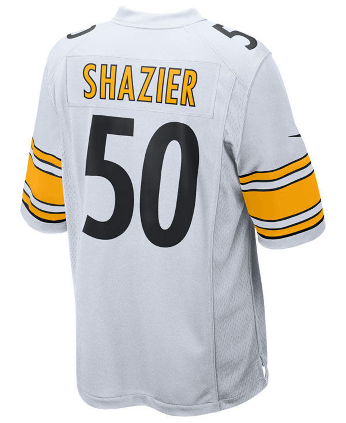 Lyst - Nike Ryan Shazier Pittsburgh Steelers Game Jersey in White ... 5d187c101