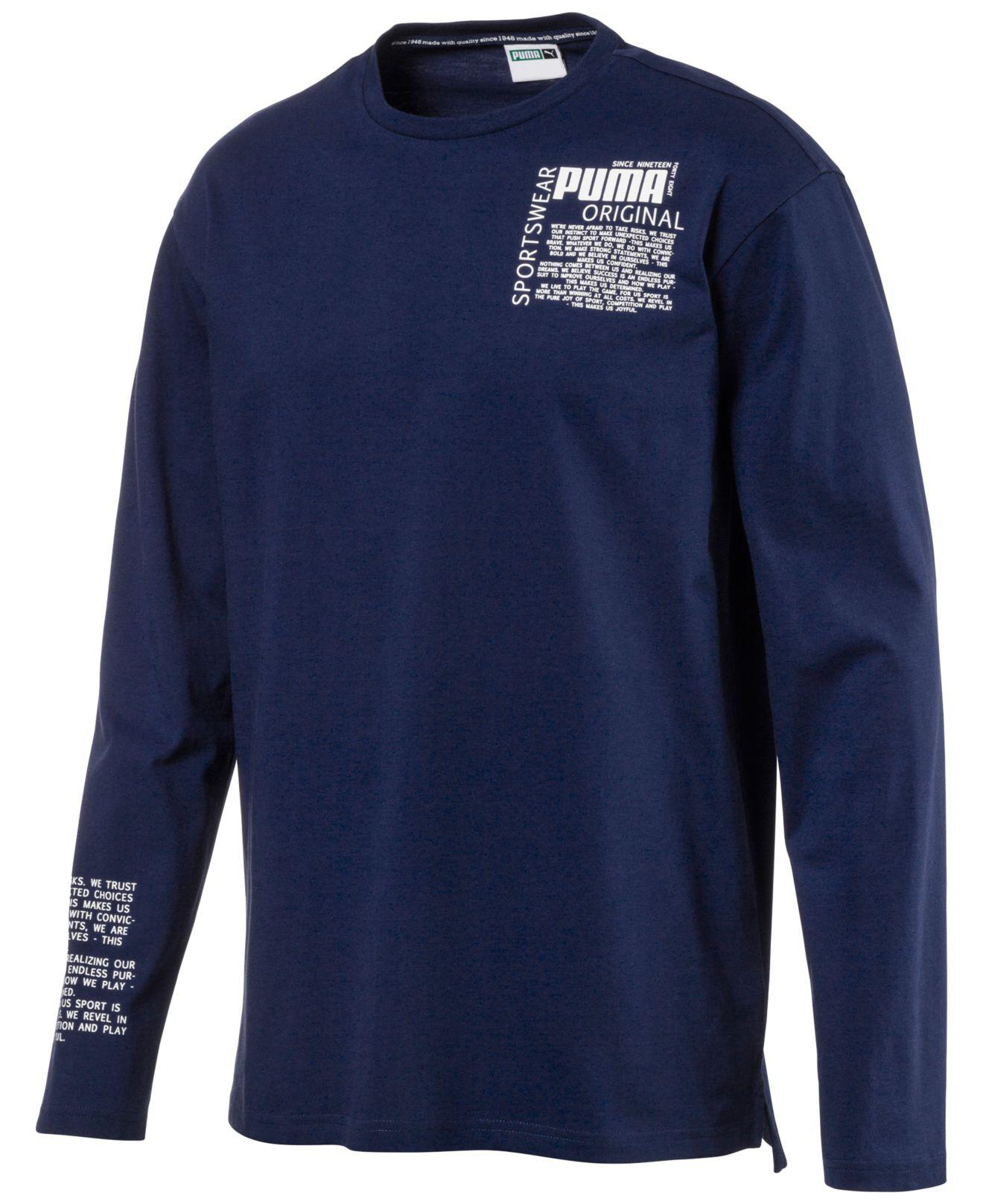 054cd9174a5 PUMA Men's Disrupt Drycell Long-sleeve T-shirt in Blue for Men - Lyst