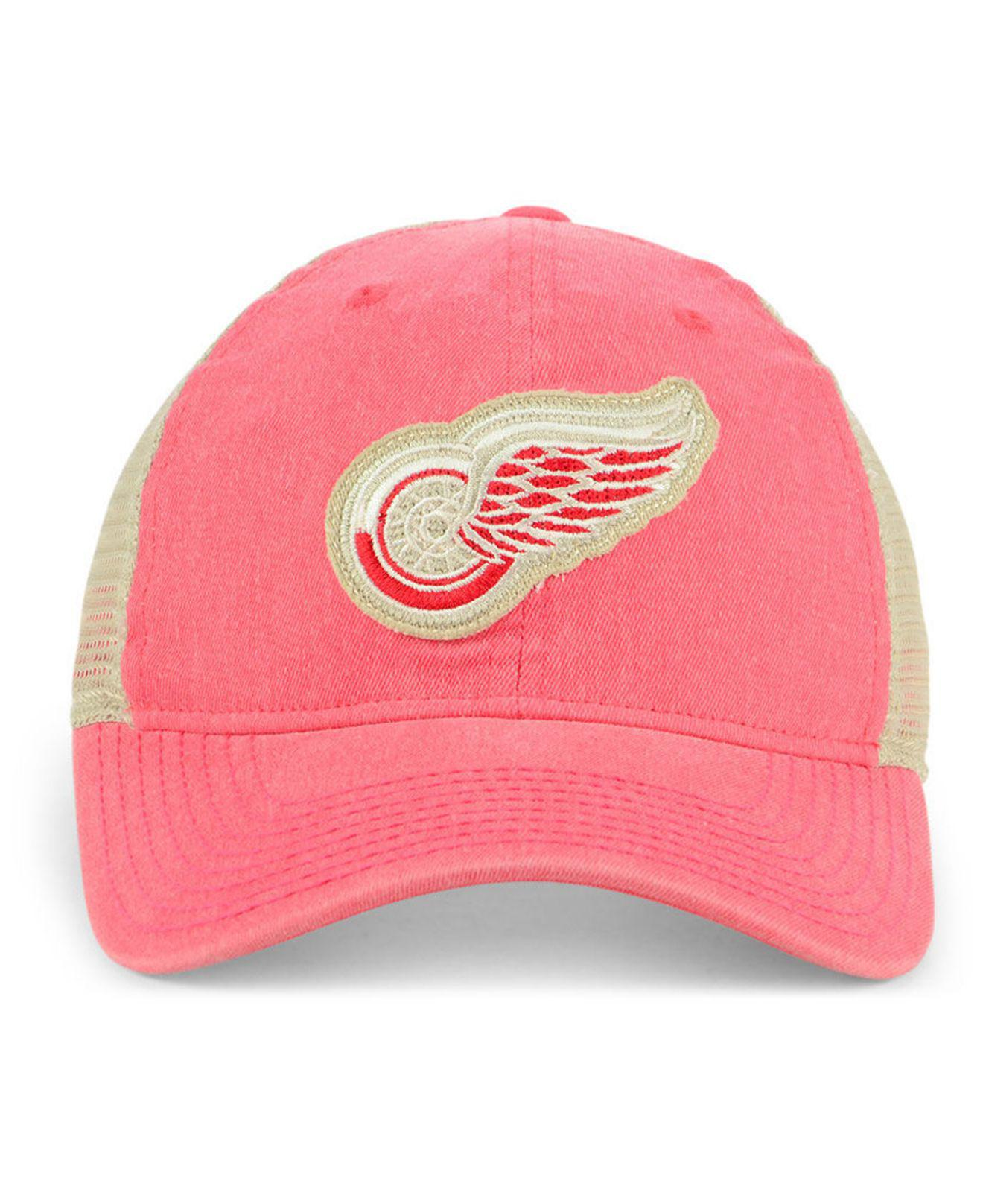 buy popular c14fd 1a450 ... hot lyst adidas detroit red wings sun bleached slouch cap in red for  men 45582 3a639