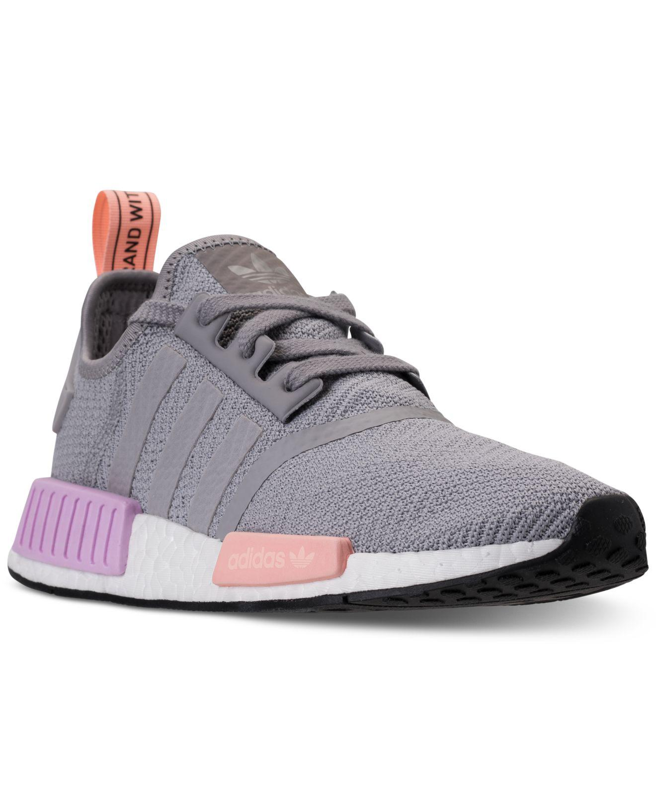 adidas nmd womens grey and pink The