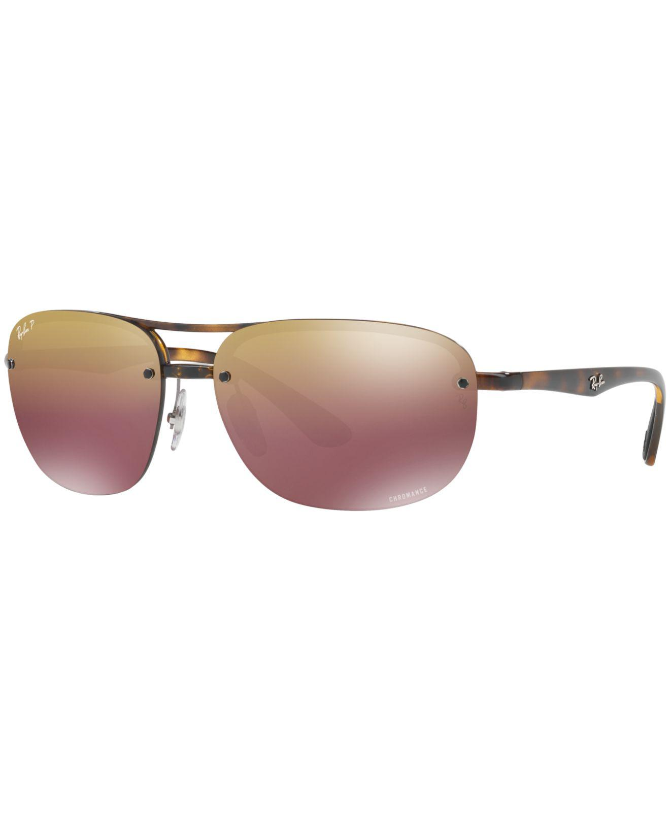 93a42812742 closeout ray ban sunglasses macys 4486e 7405e  best price lyst ray ban  polarized chromance collection sunglasses rb4275ch 81dd7 41ead