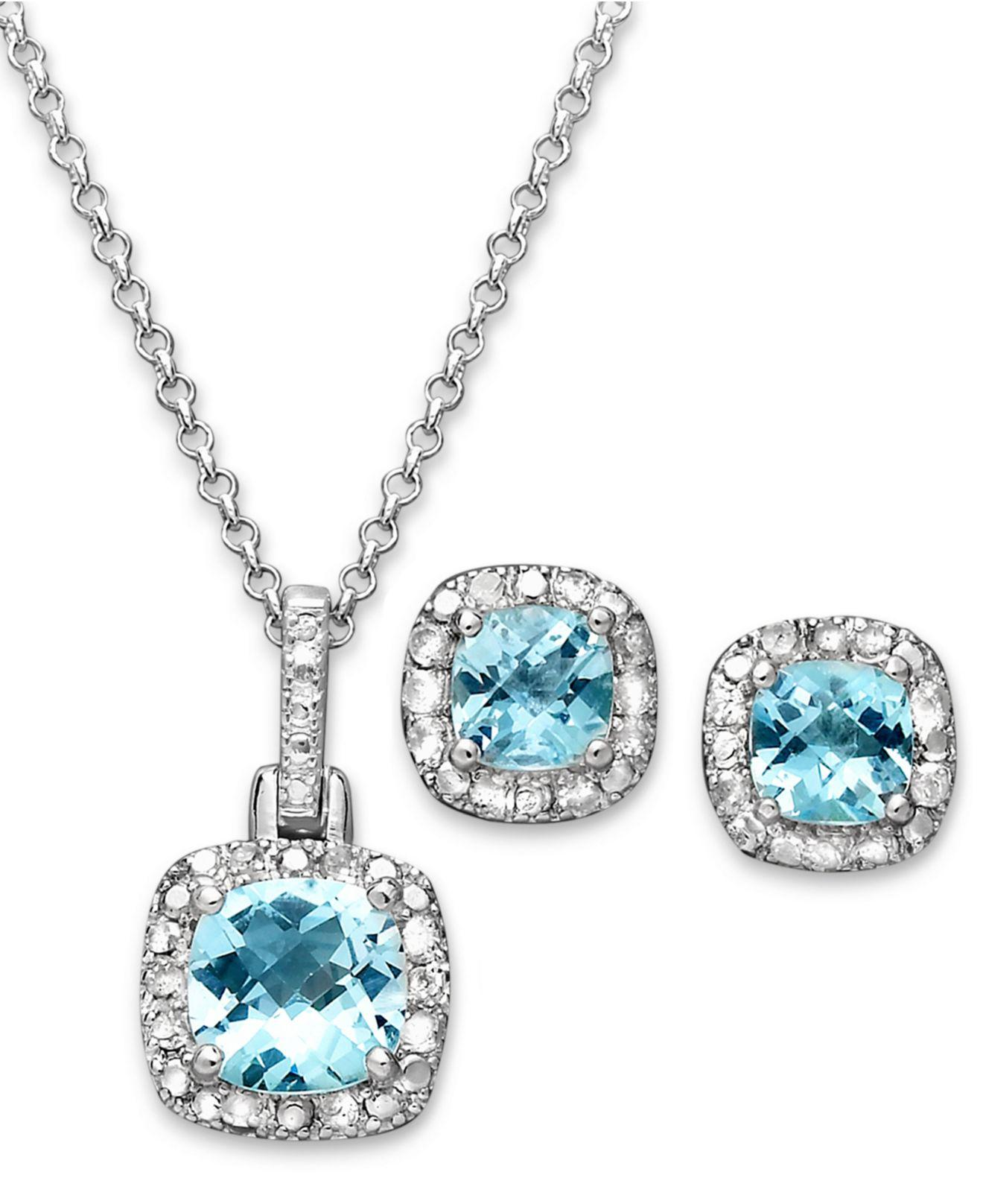 d907ac4cc Macy's Victoria Townsend Sterling Silver Earrings And Necklace Set ...