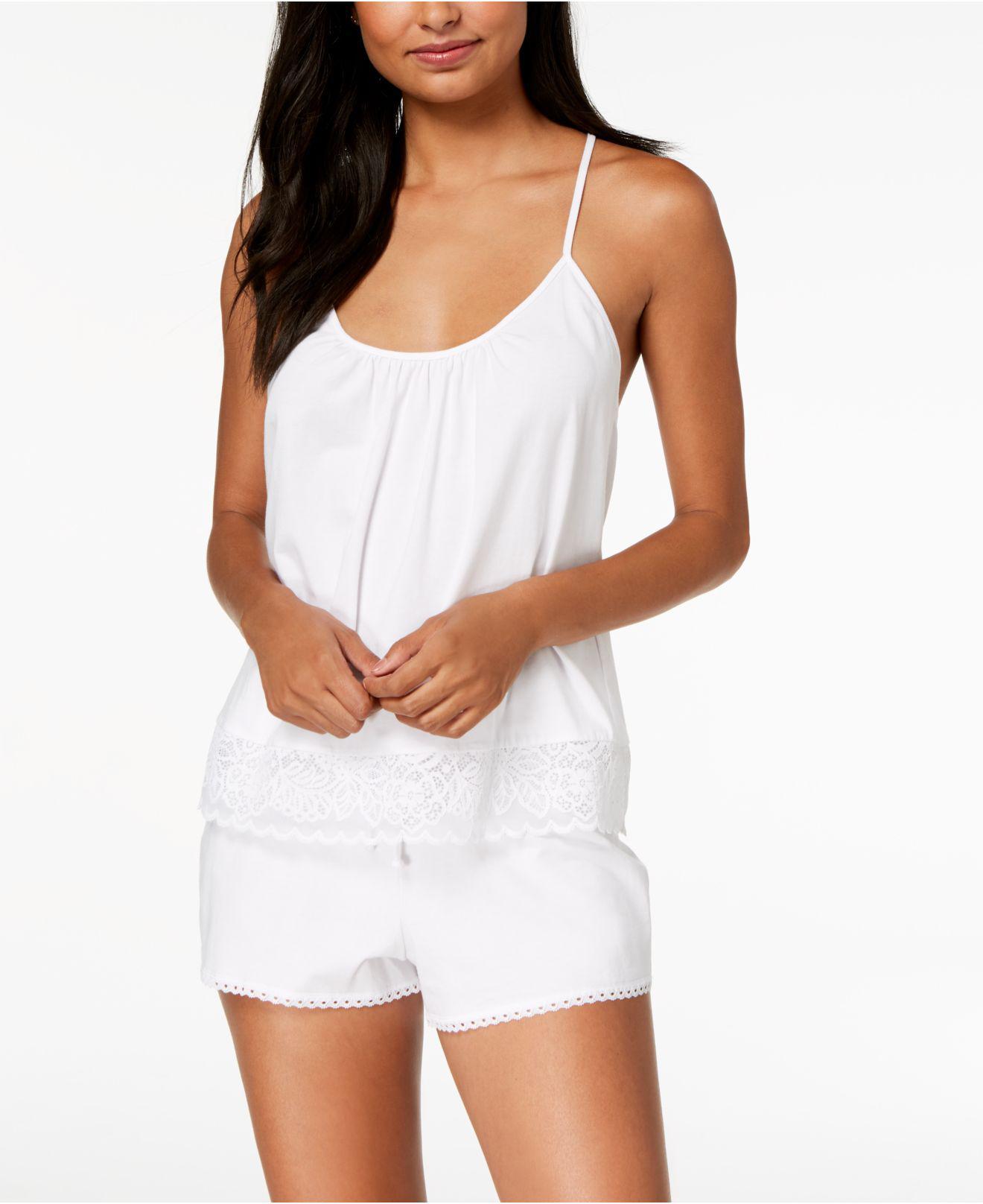 bc84e9e975 Lyst - Linea Donatella Festival Bridal Lace-trim Pajama Set in White