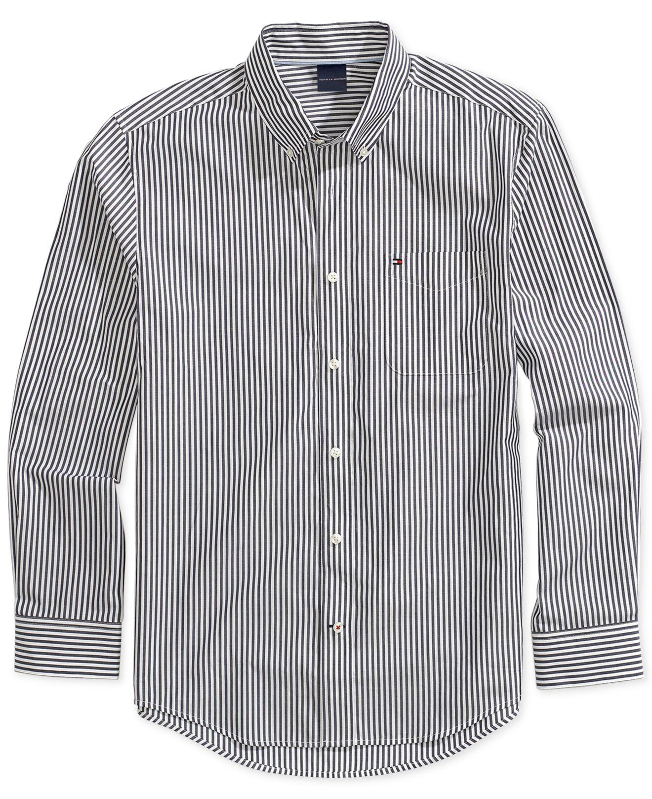 d91ec8a5 Lyst - Tommy Hilfiger Stripe Shirt With Magnetic Buttons for Men