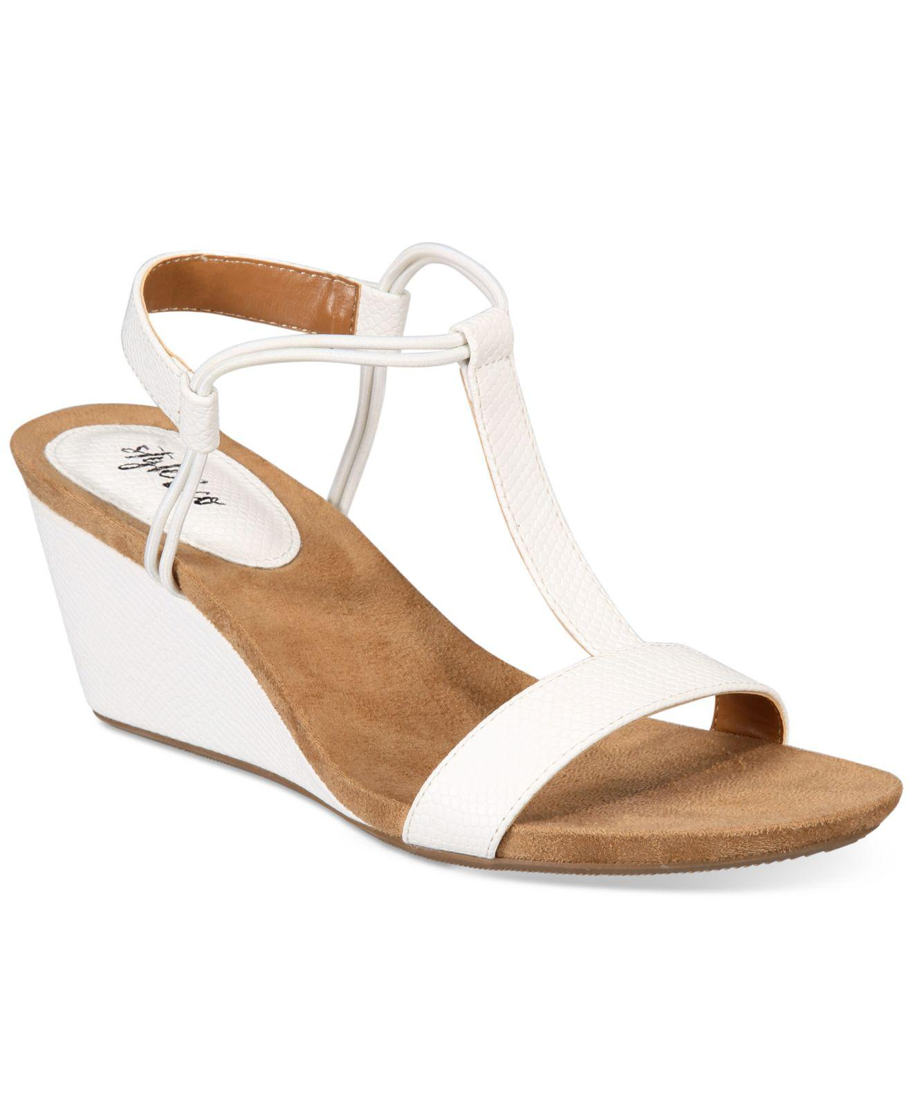 67de0877dc194 Lyst - Style   Co. Mulan Wedge Sandals in White - Save 13%