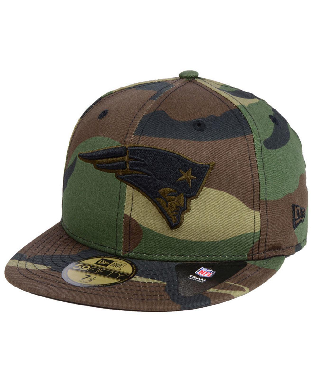 5ef3c112db6 Lyst - KTZ New England Patriots Woodland Prism Pack 59fifty-fitted ...