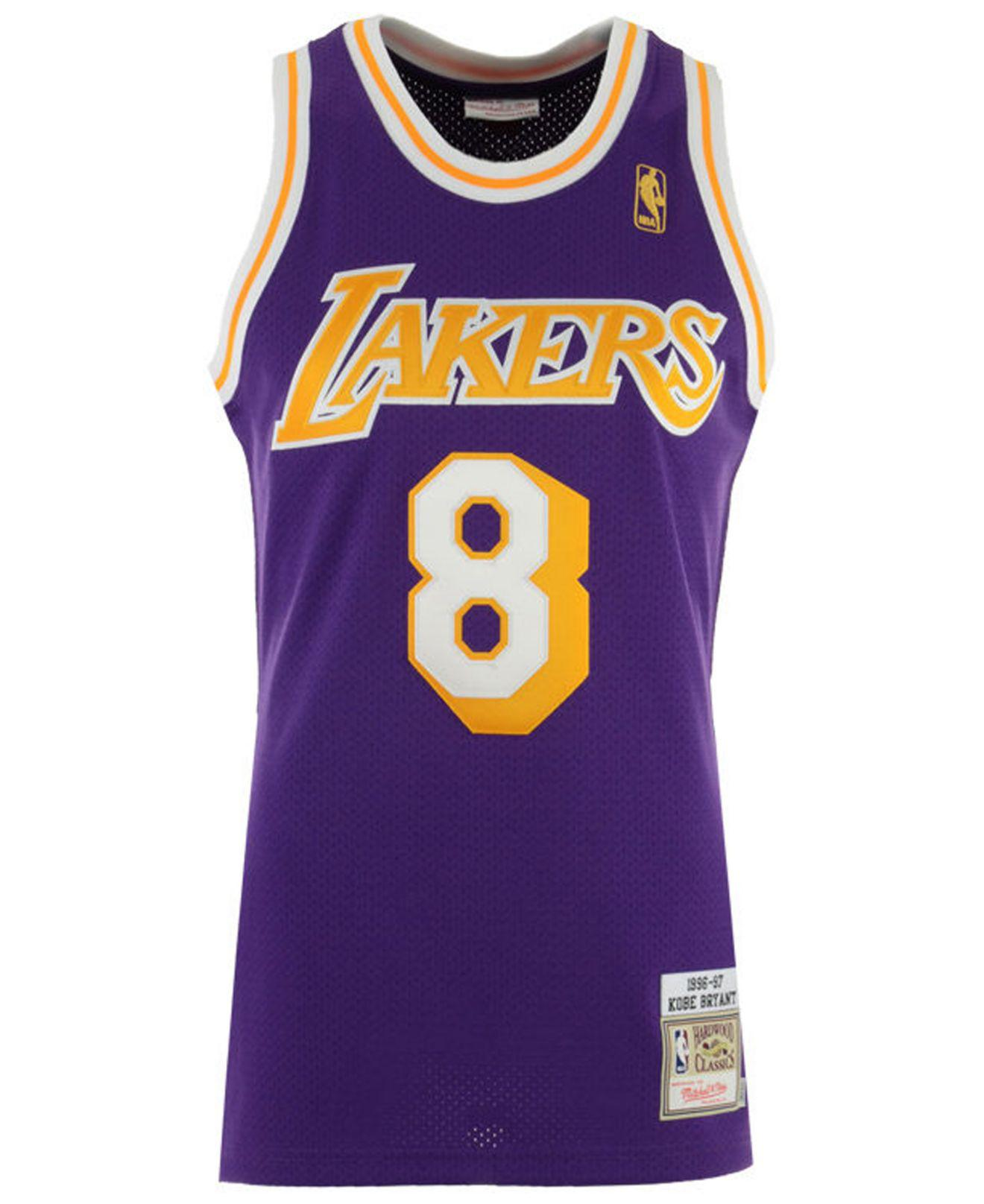 Lyst - Mitchell   Ness Kobe Bryant Los Angeles Lakers Authentic Jersey in  Purple for Men 0e1ee289a