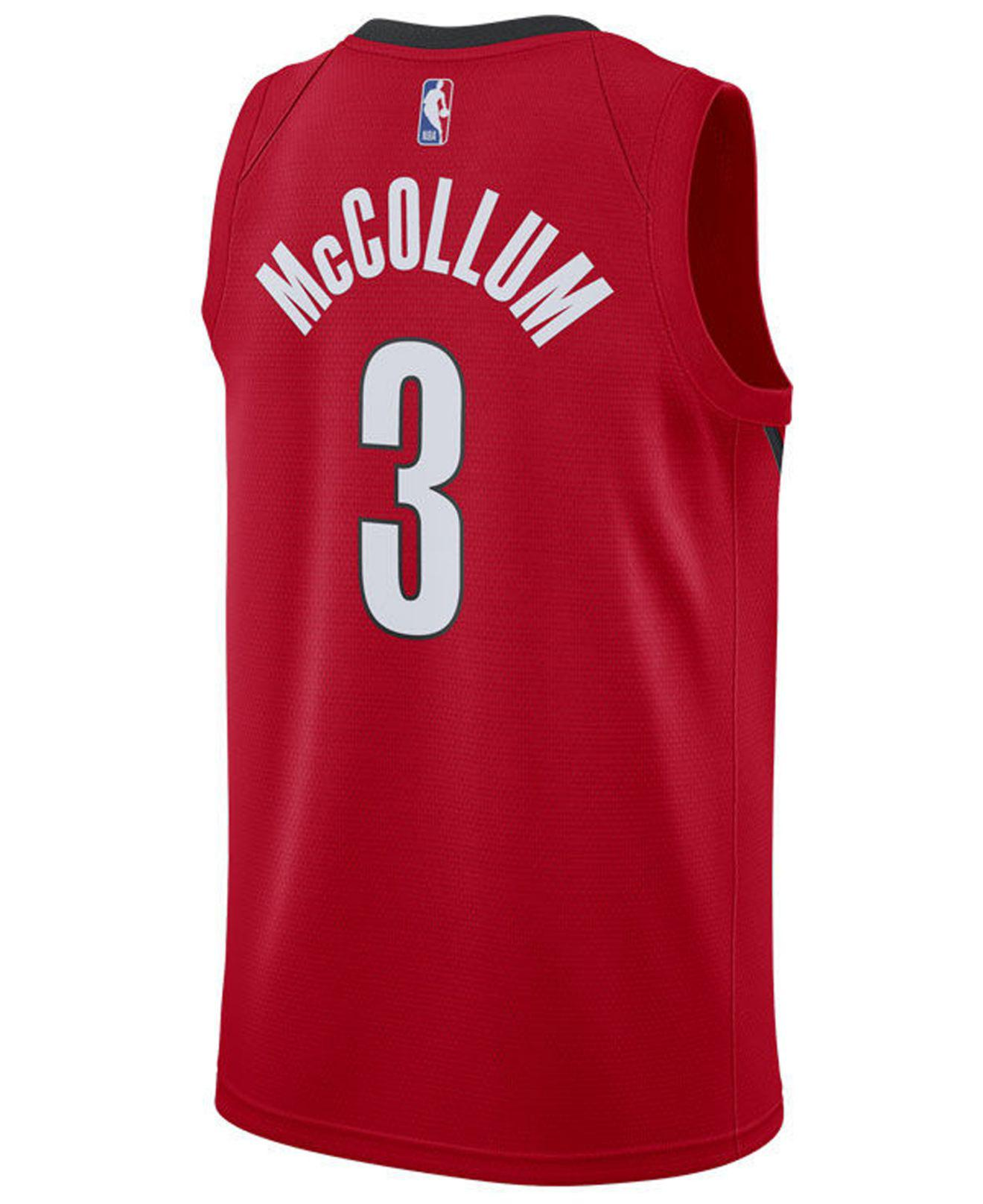 b325687498b ... official store lyst nike c.j. mccollum portland trail blazers earned edition  swingman jersey in red for