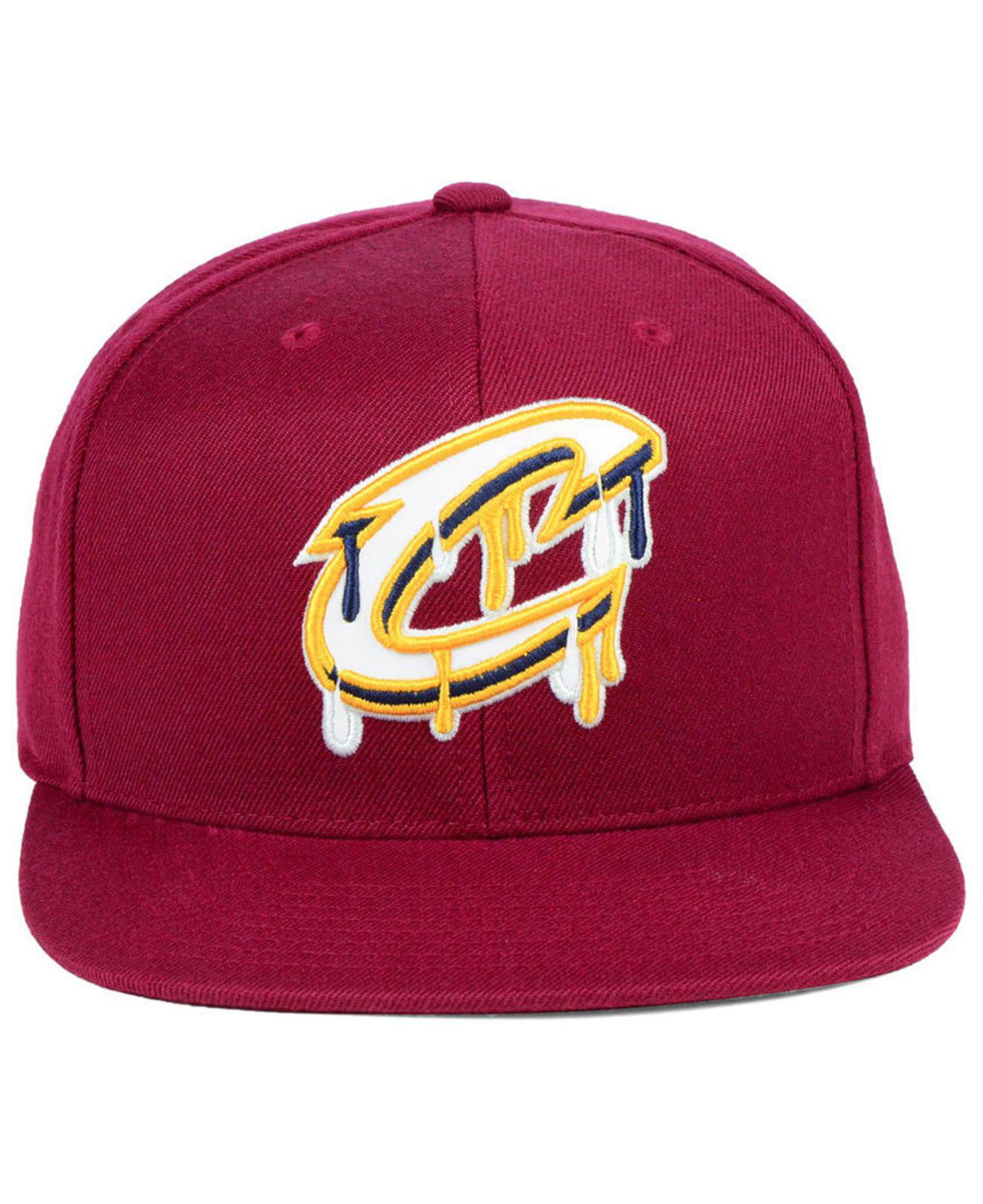 san francisco 922b8 7914e ... official store lyst mitchell ness cleveland cavaliers dripped snapback  cap in purple for men e8432 94a53