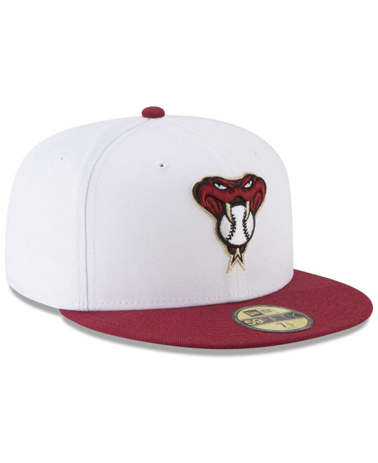 96bcc3c063a ... Arizona Diamondbacks Batting Practice Wool Flip 59fifty Fitted Cap for  Men - Lyst. View fullscreen