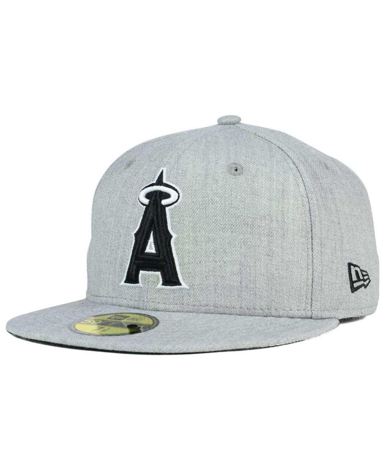 low priced 0de08 ebfdd ... discount code for ktz. mens gray los angeles angels of anaheim heather  black white 59fifty