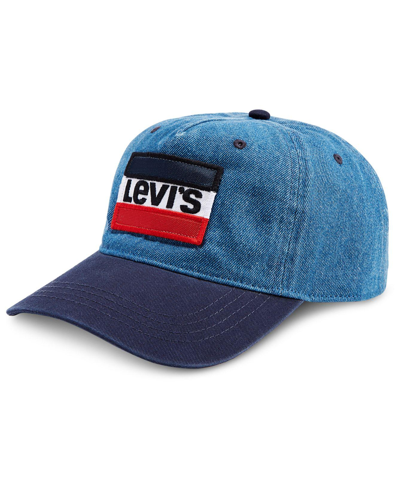 ad7ce4960adc8 Levi s Denim Olympic Patch Baseball Cap in Blue for Men - Lyst
